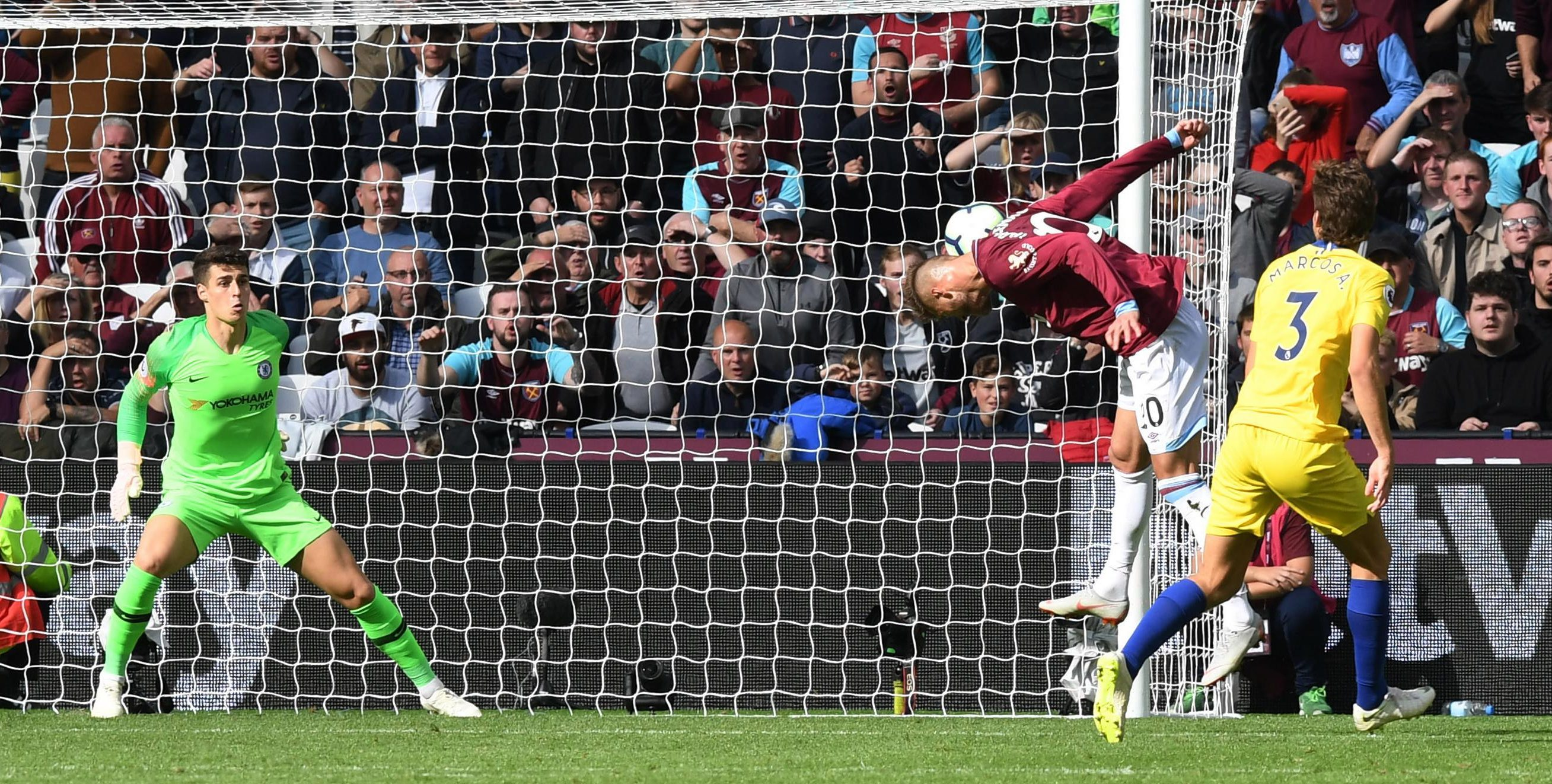 Andriy Yarmolenko had a brilliant chance to win the game for West Ham against Chelsea but fluffed his lines
