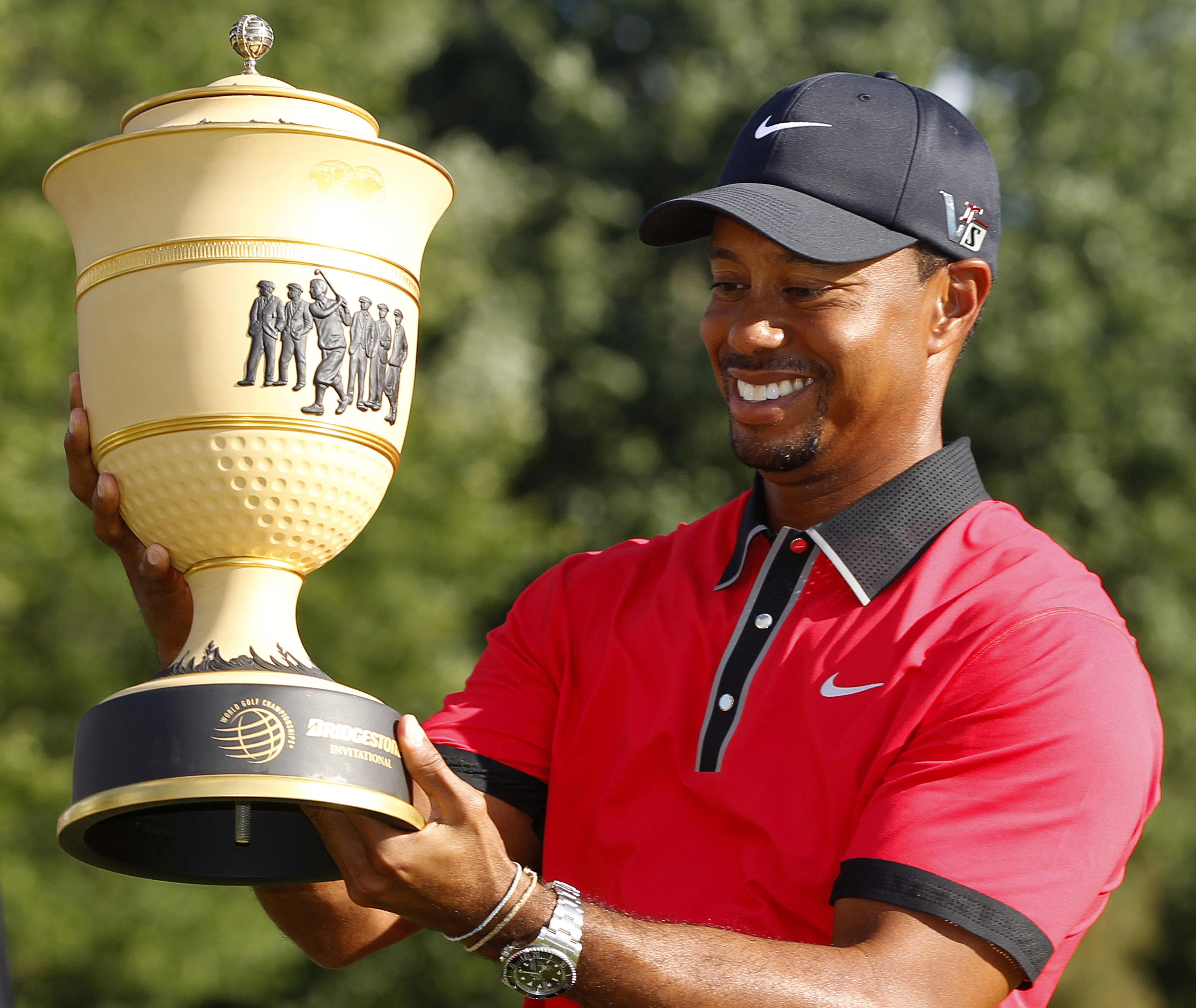 Woods is delighted his children saw him win a major trophy