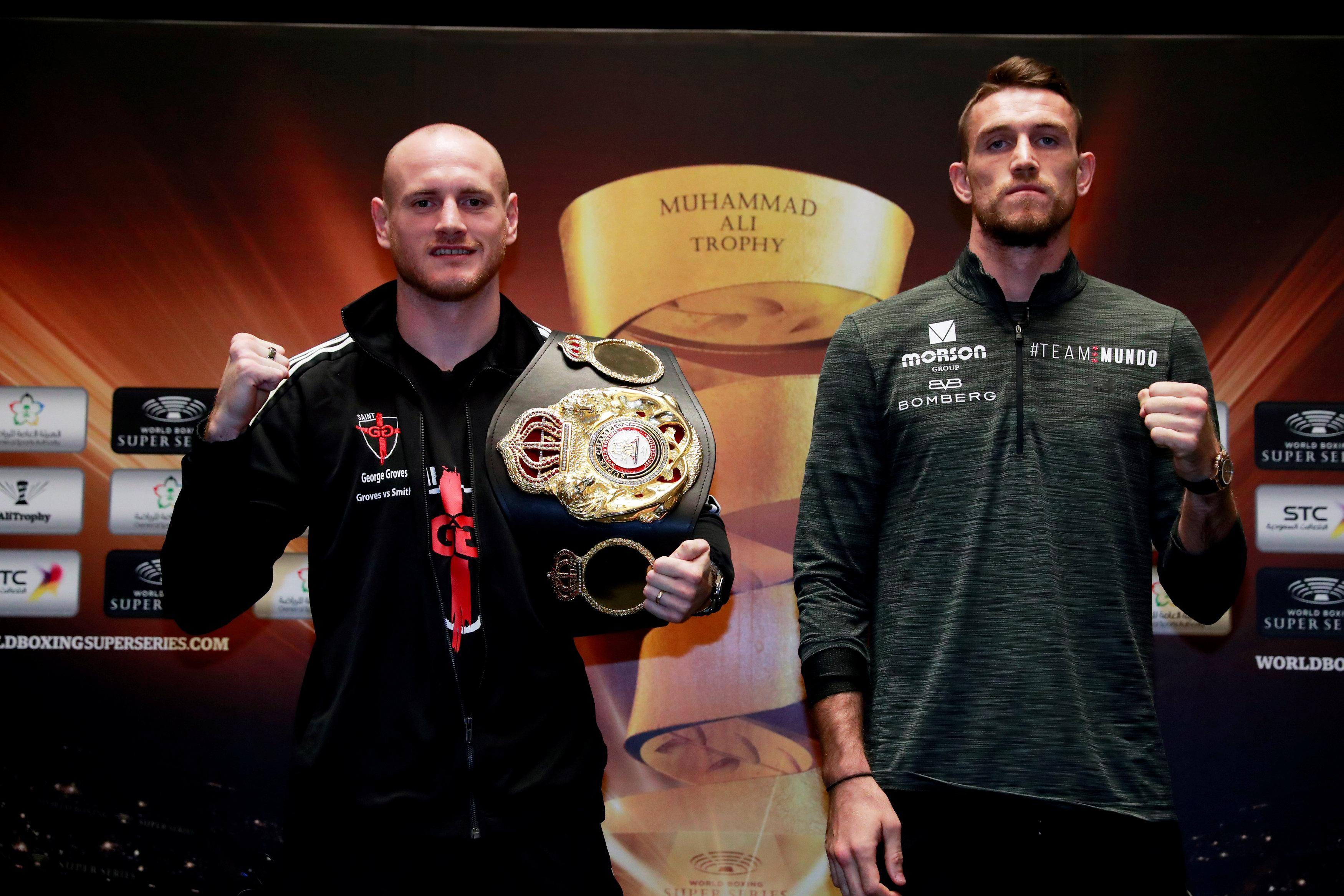 George Groves and Callum Smith challenge each other in the World Boxing Series final
