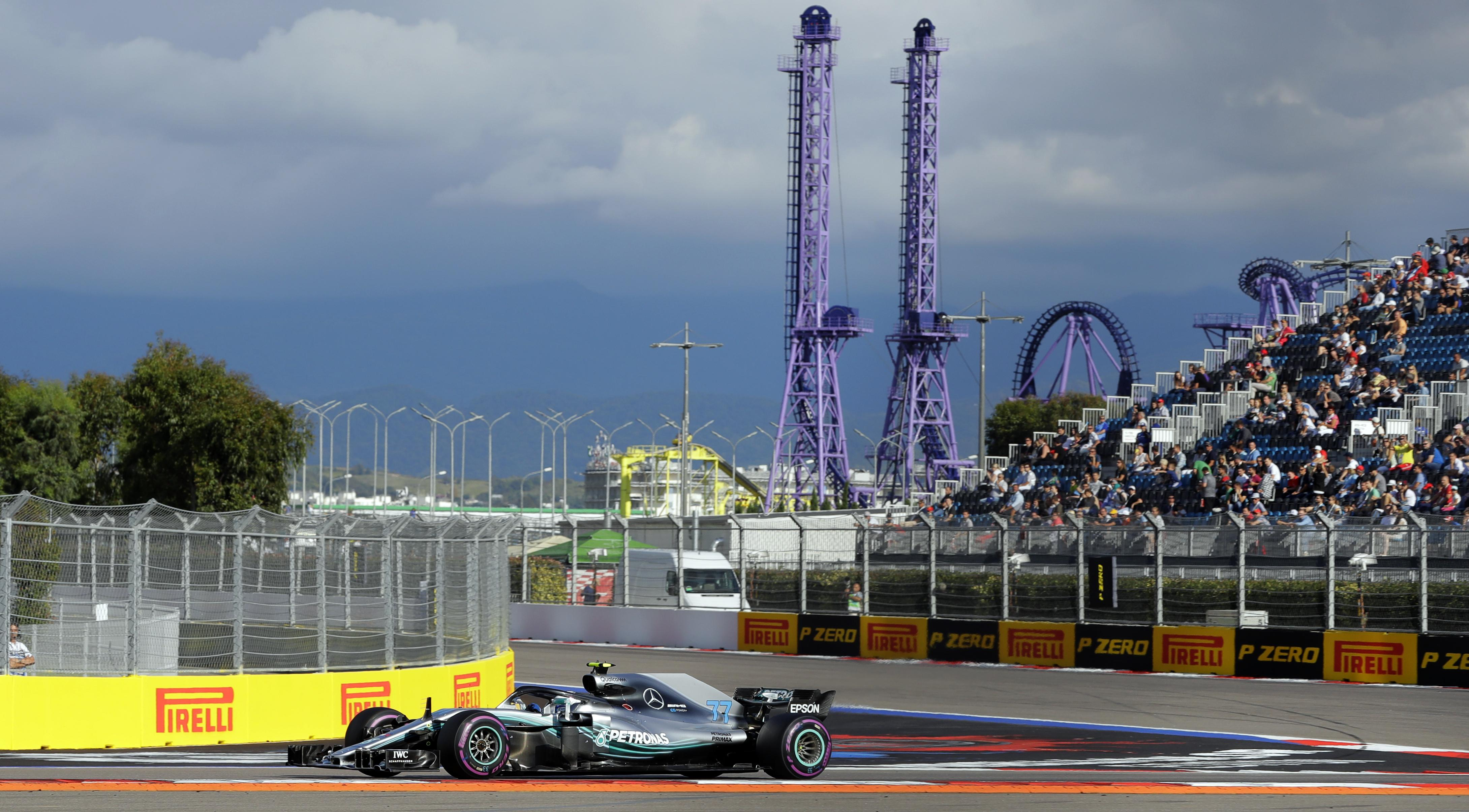 Mercedes have been dominant all weekend in Russia
