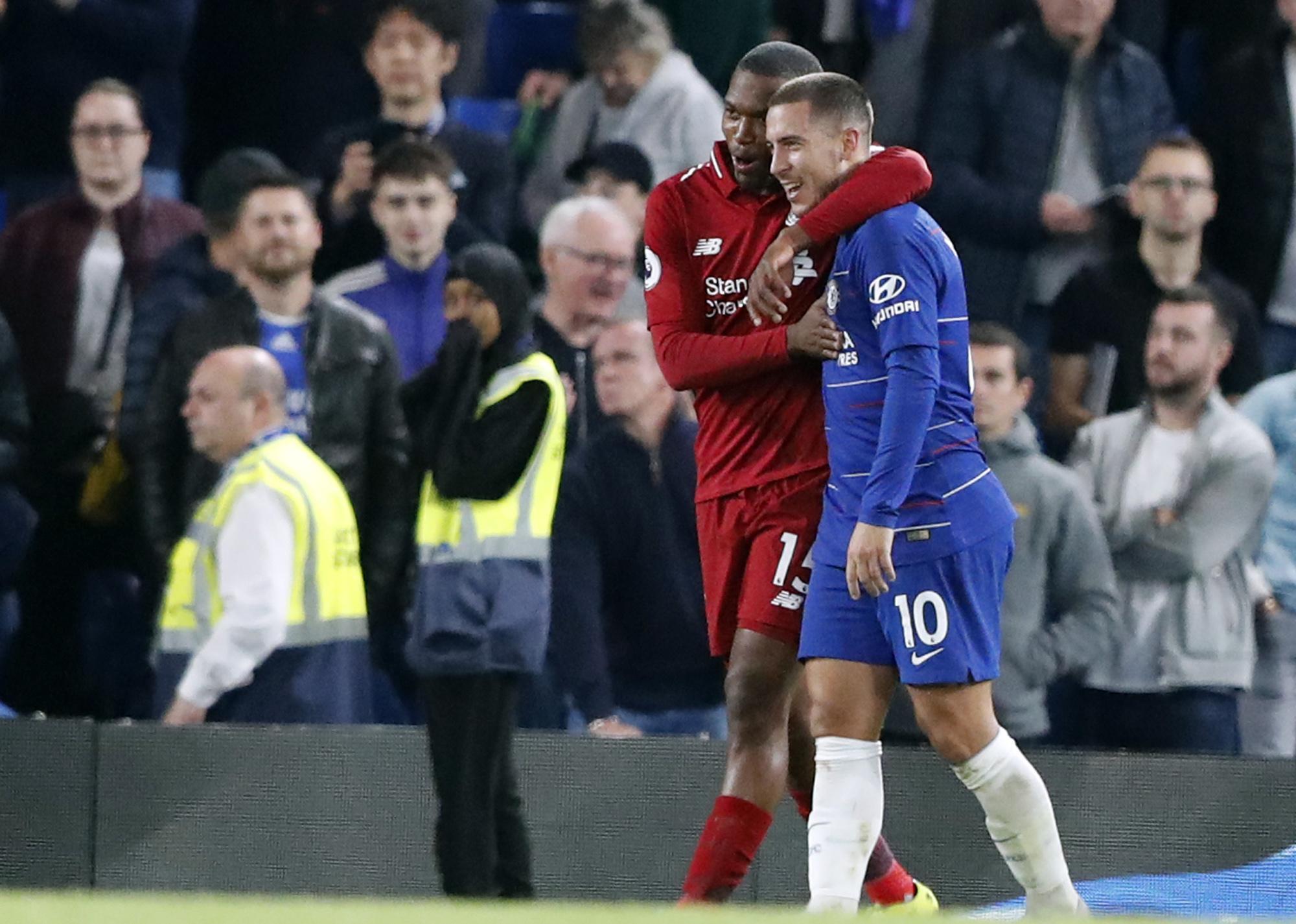 Eden Hazard had some words for Daniel Sturridge after his stunning equaliser