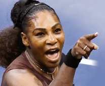Serena Williams reacted furiously to a warning from Carlos Ramos in the final