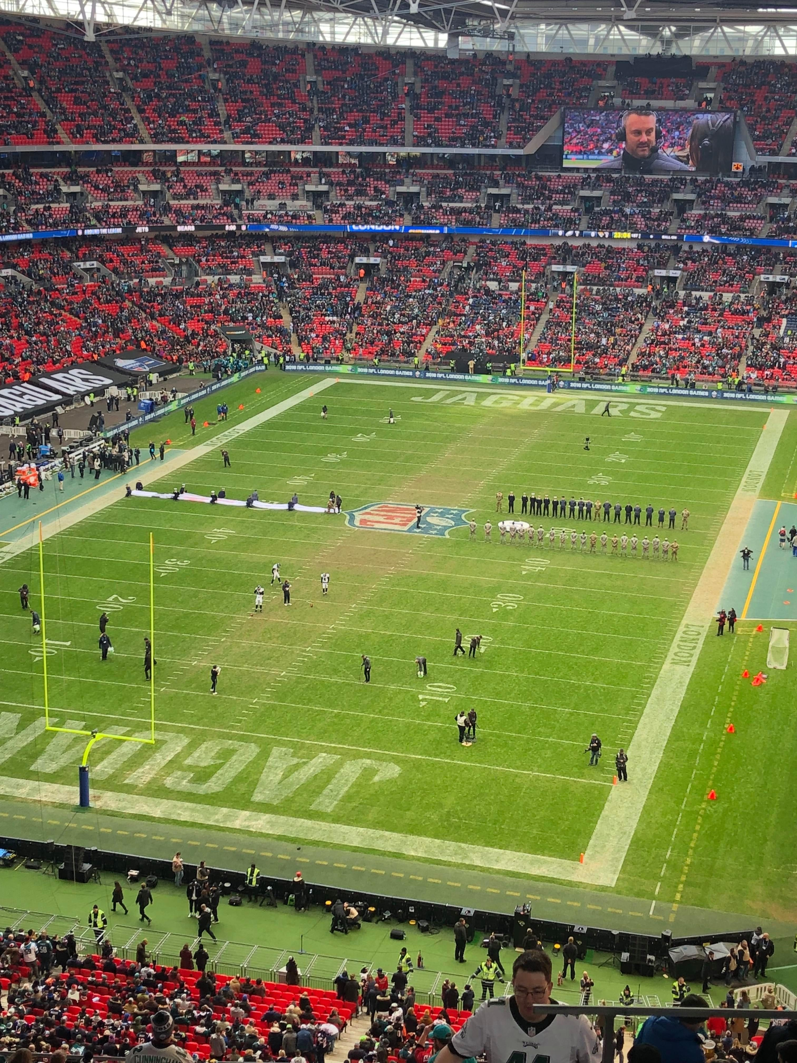 Football fans have also mocked the poor state of the Wembley pitch