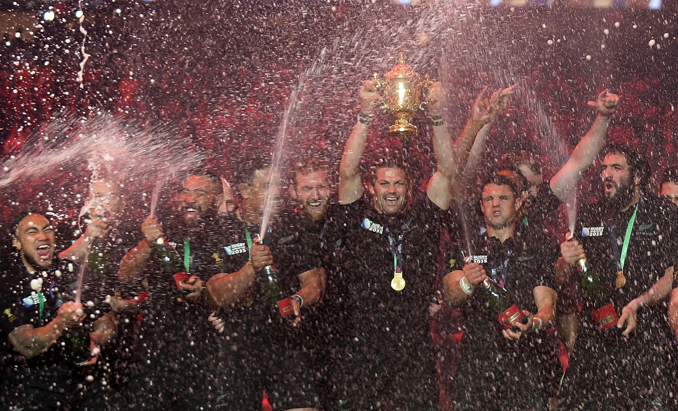 England hosted the 2015 World Cup with the All Blacks lifting the Webb Ellis Trophy at Twickenham