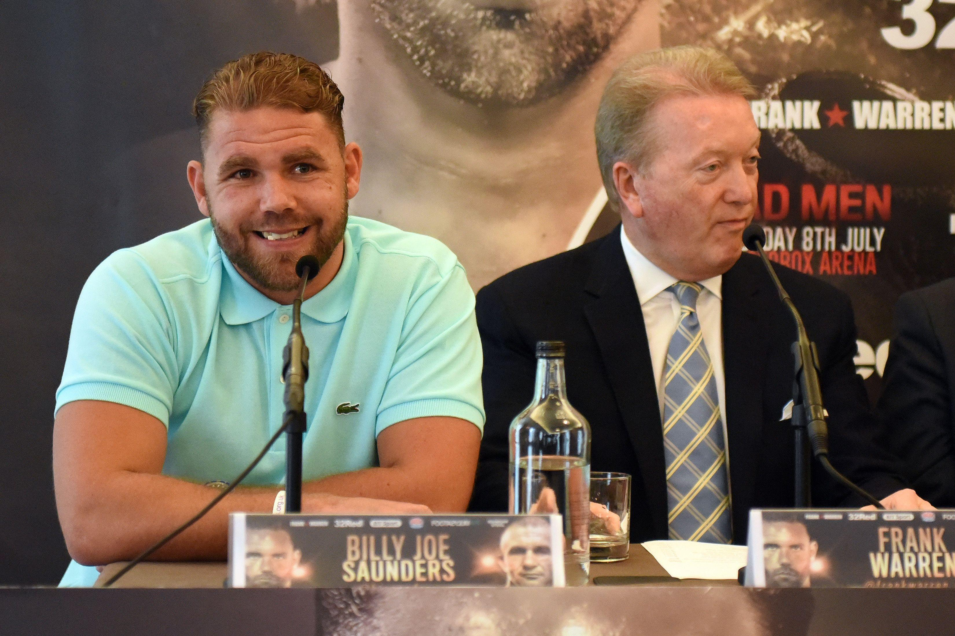 Frank Warren is furious at the way Billy Joe Saunders was dealt with