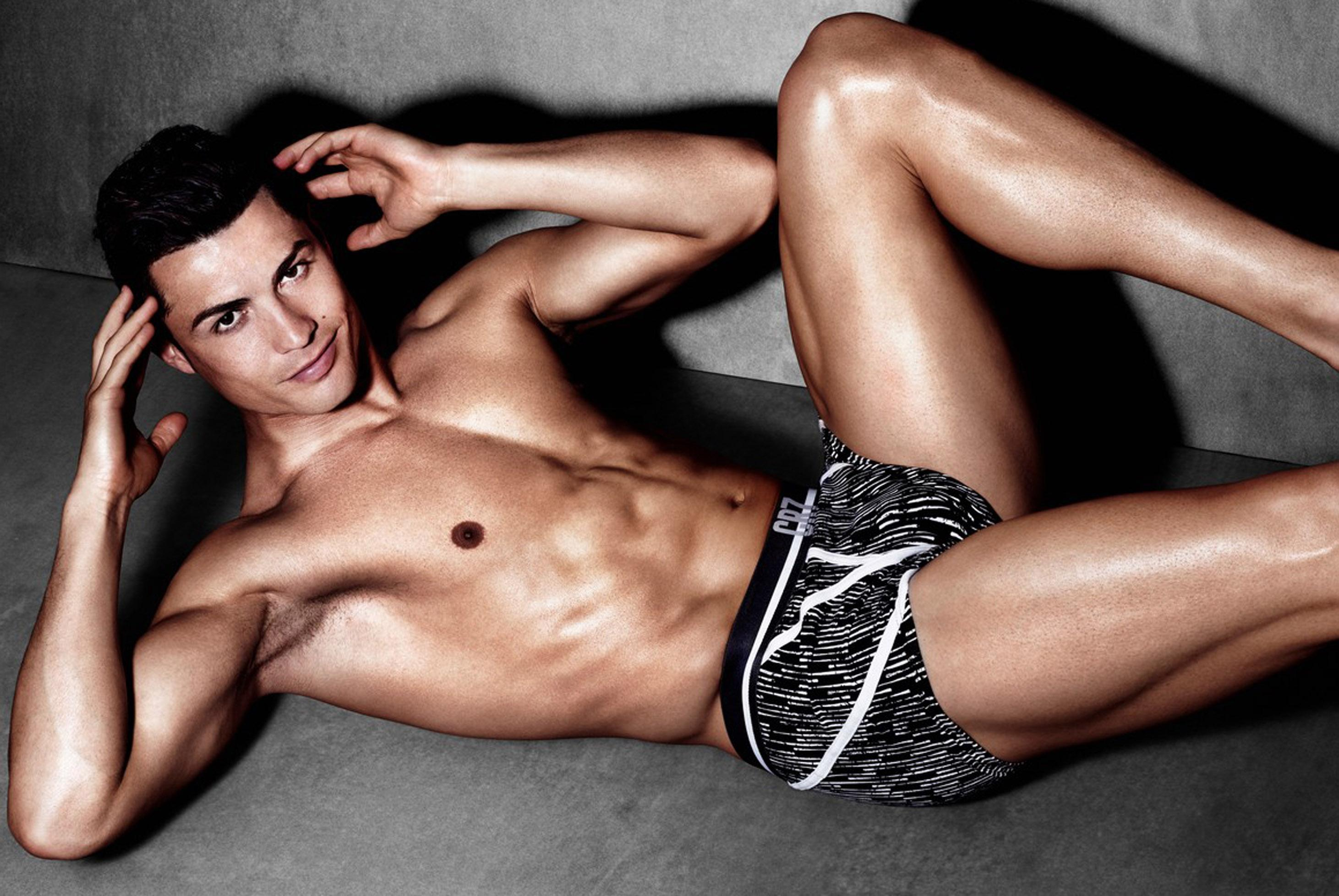 Never shy about showing off his physique - on or off the pitch - Ronaldo promotes his CR7 underwear brand
