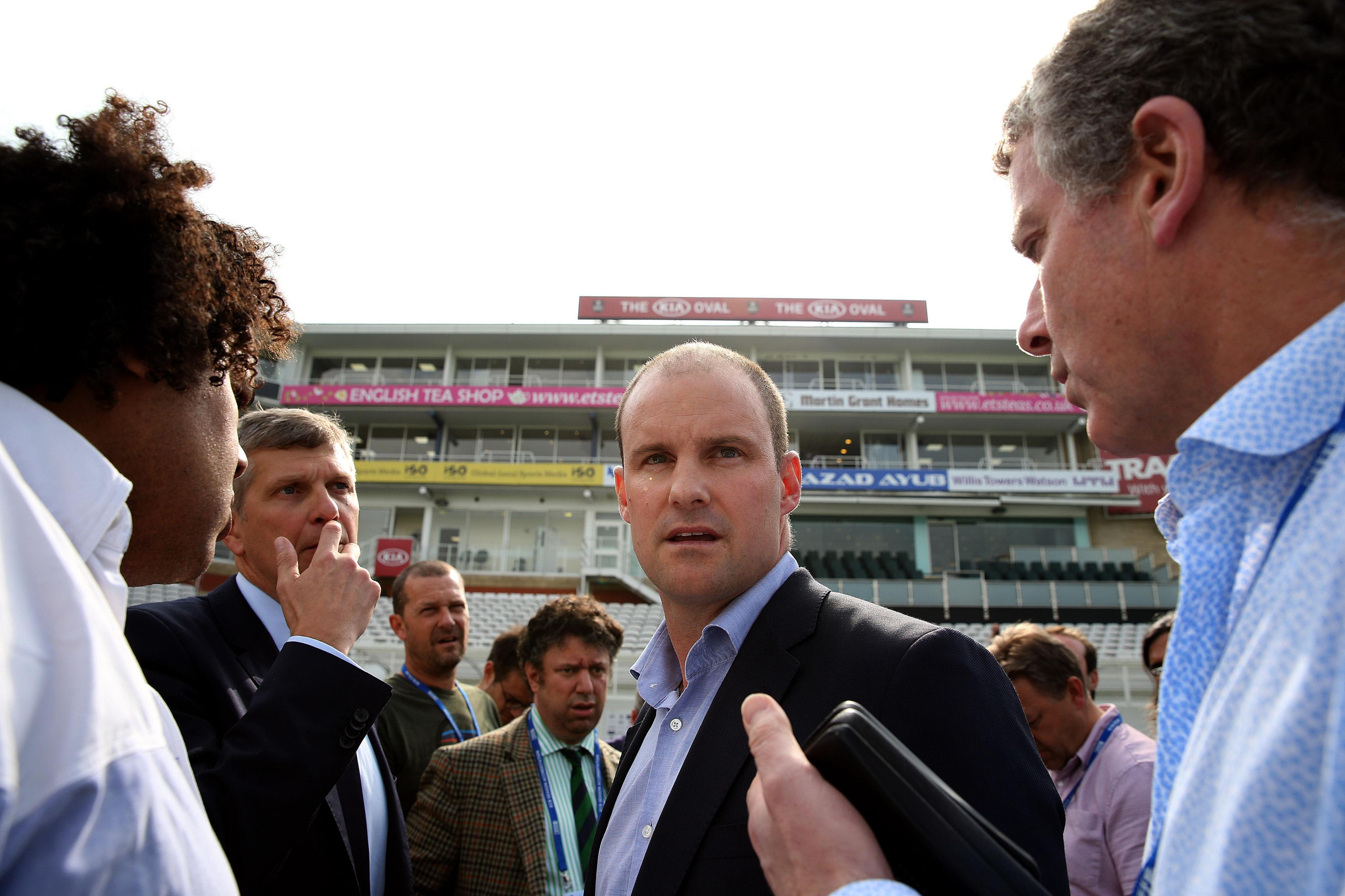 Andrew Strauss has stepped down in his role as England's director of cricket after revealing his wife is fighting cancer