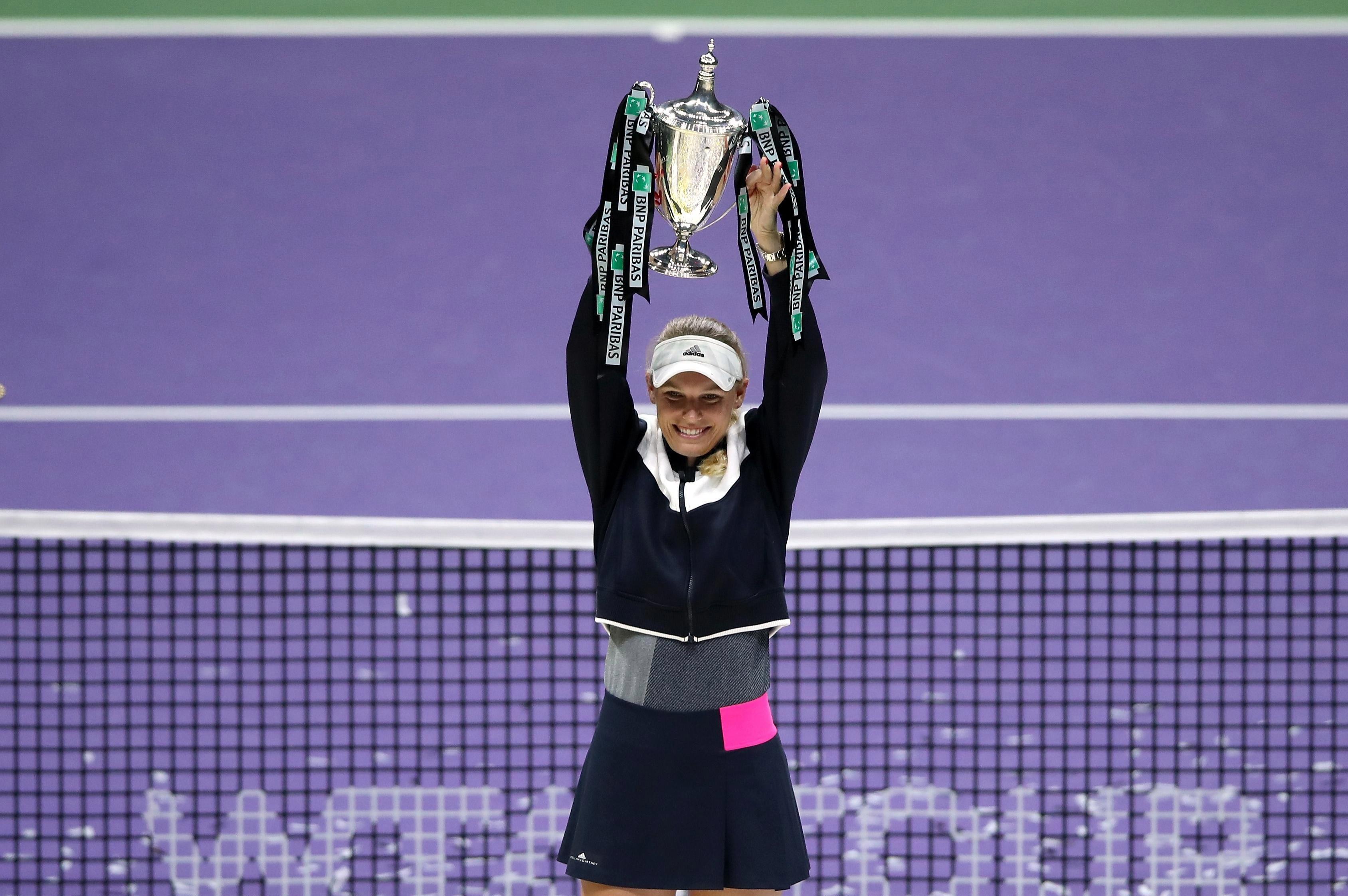 Caroline Wozniacki won the Billie Jean King Trophy in 2017, after beating Venus Williams