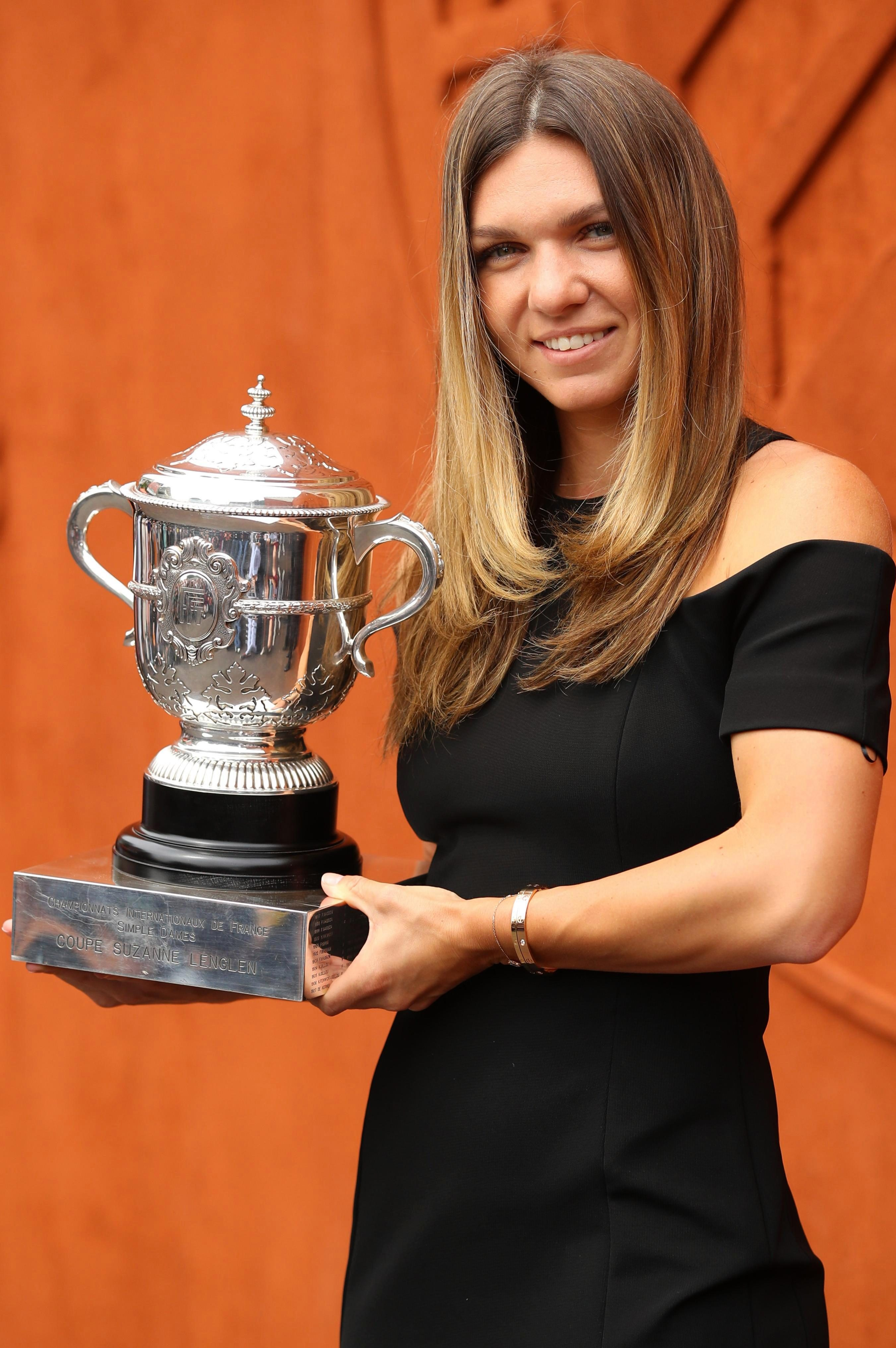 Halep won her first Grand Slam title at Roland Garros earlier this year