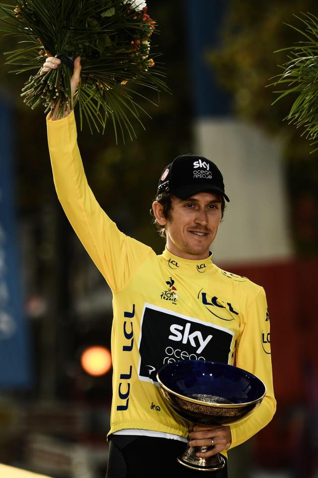 Geraint Thomas is pleading for the return of his Tour De France trophy, the Coupe Omnisports