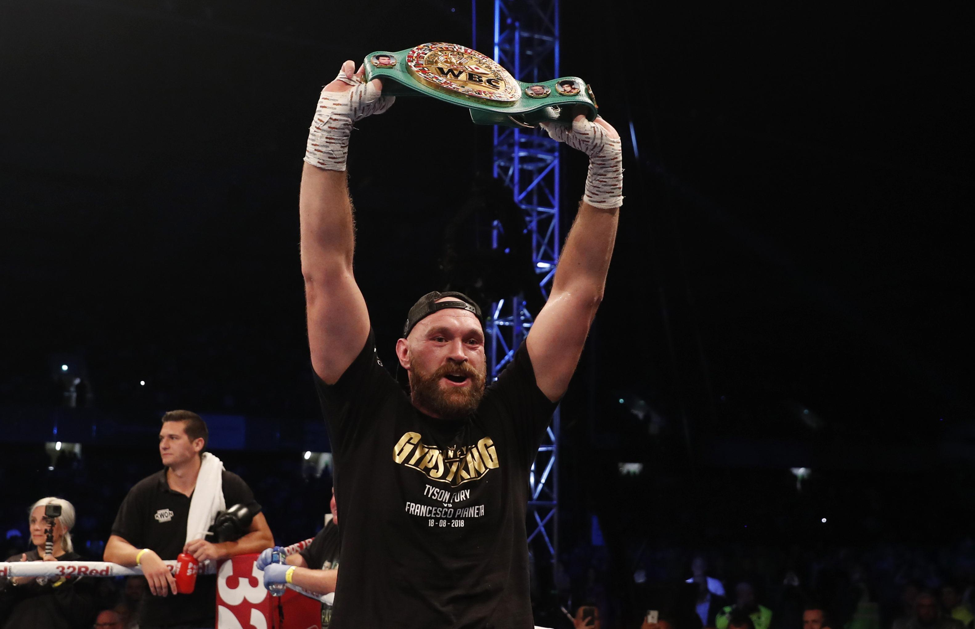 Tyson Fury is hoping to get his hands on the WBC belt