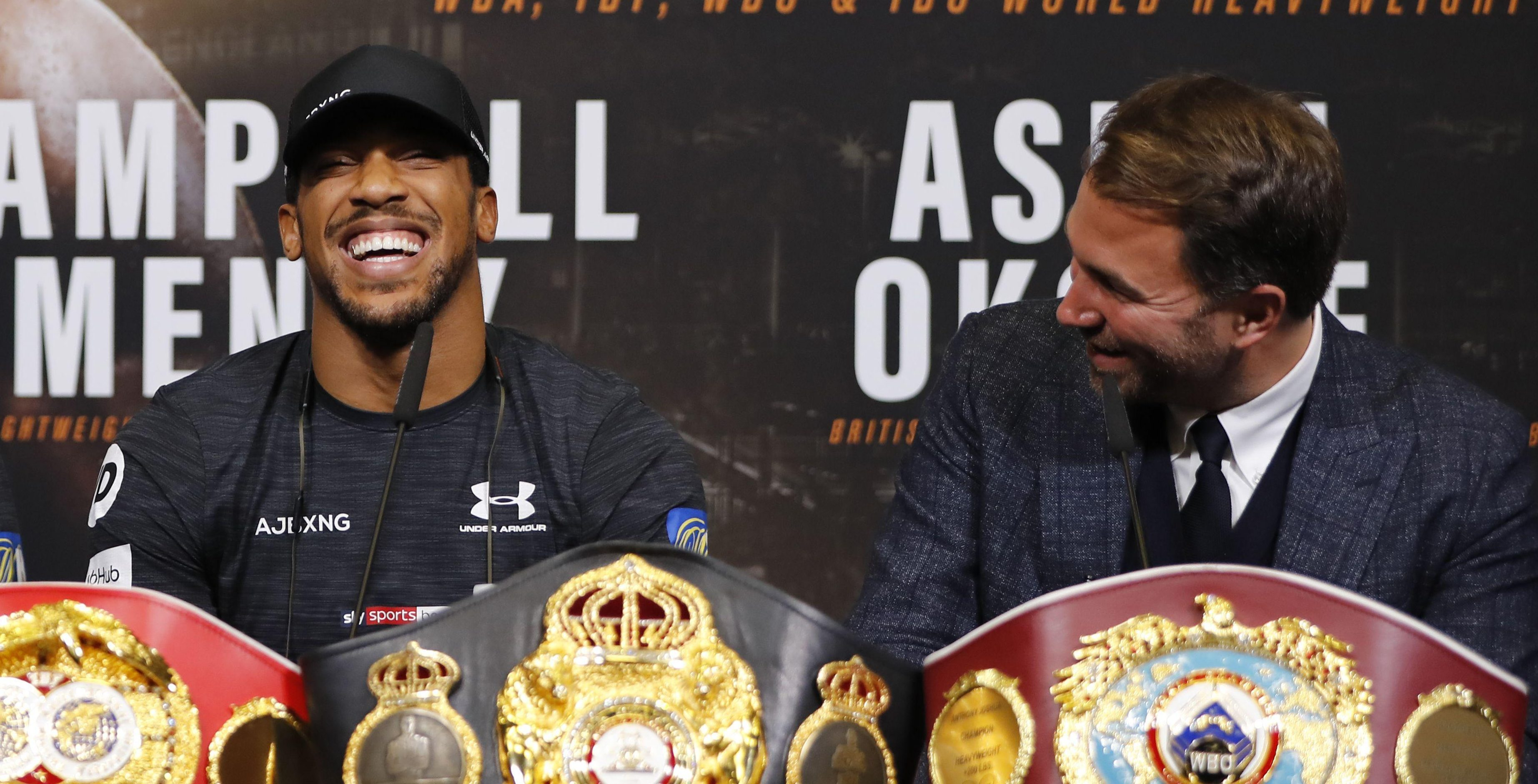 Anthony Joshua is still to nail down a unification scrap against Deontay Wilder - but his promoter's latest comments might help it happen