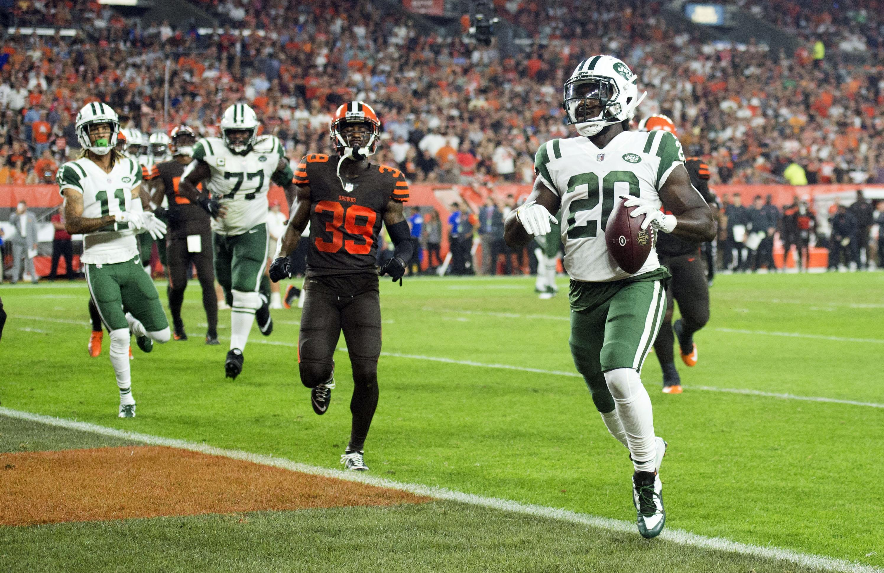 The Jets ace ran in two TDs against his former club