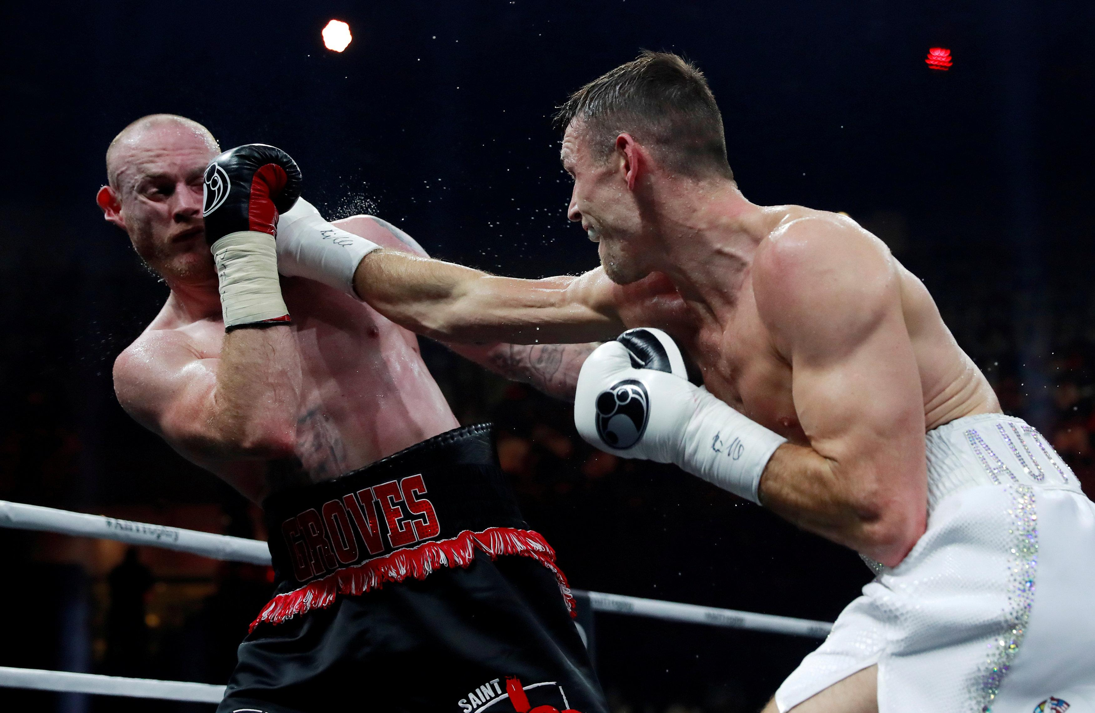 Smith proved to be too strong for Groves in the World Boxing Super Series final