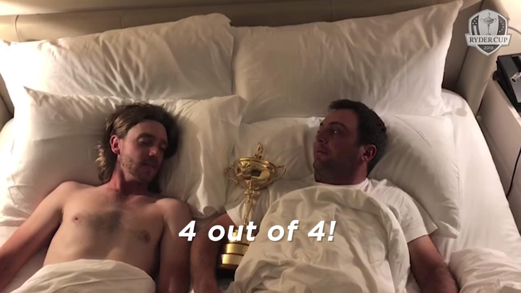Tommy Fleetwood and Francesco Molinari struck up a friendship while on holiday in August