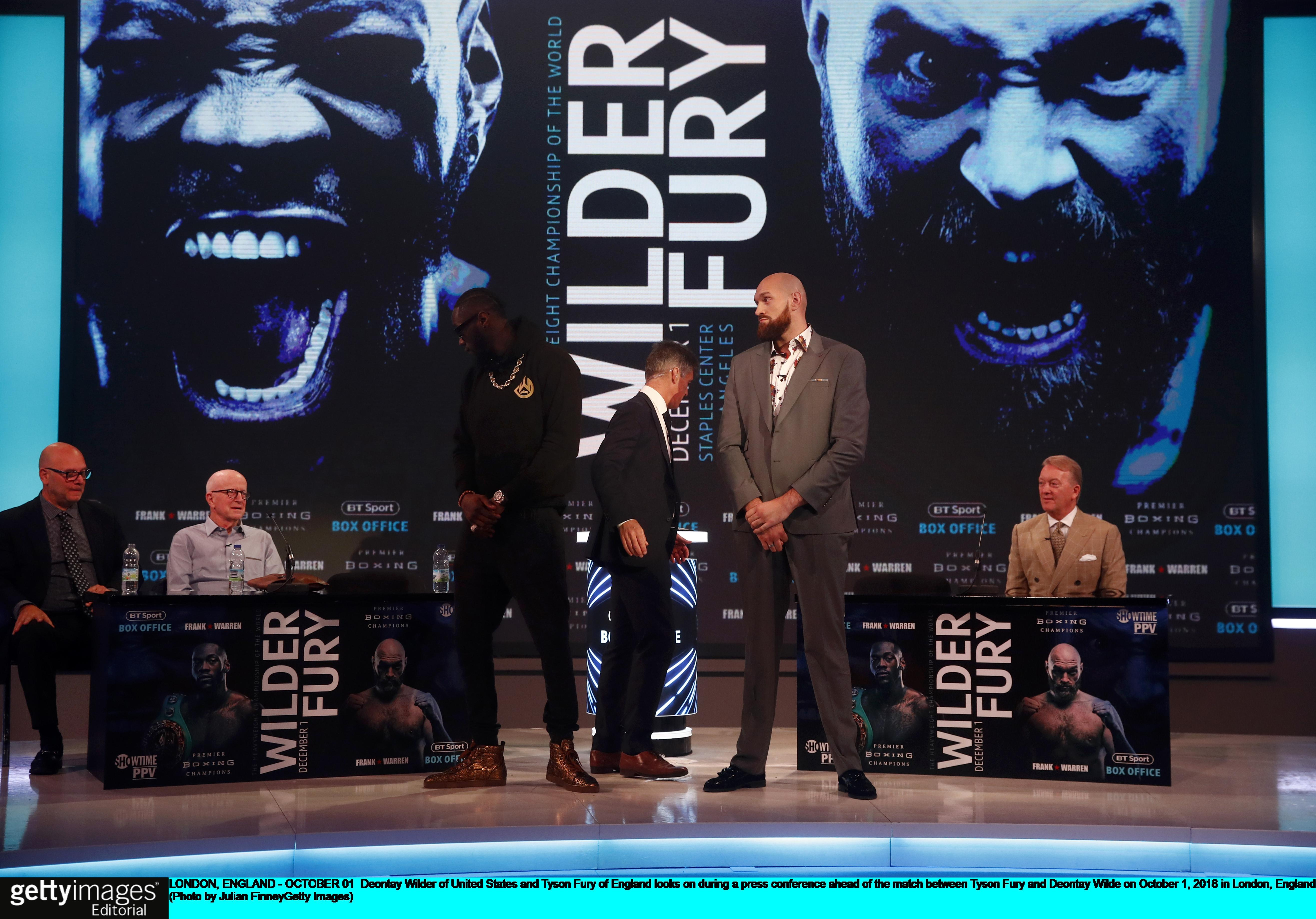Deontay Wilder and Tyson Fury are scheduled to fight on December 1.