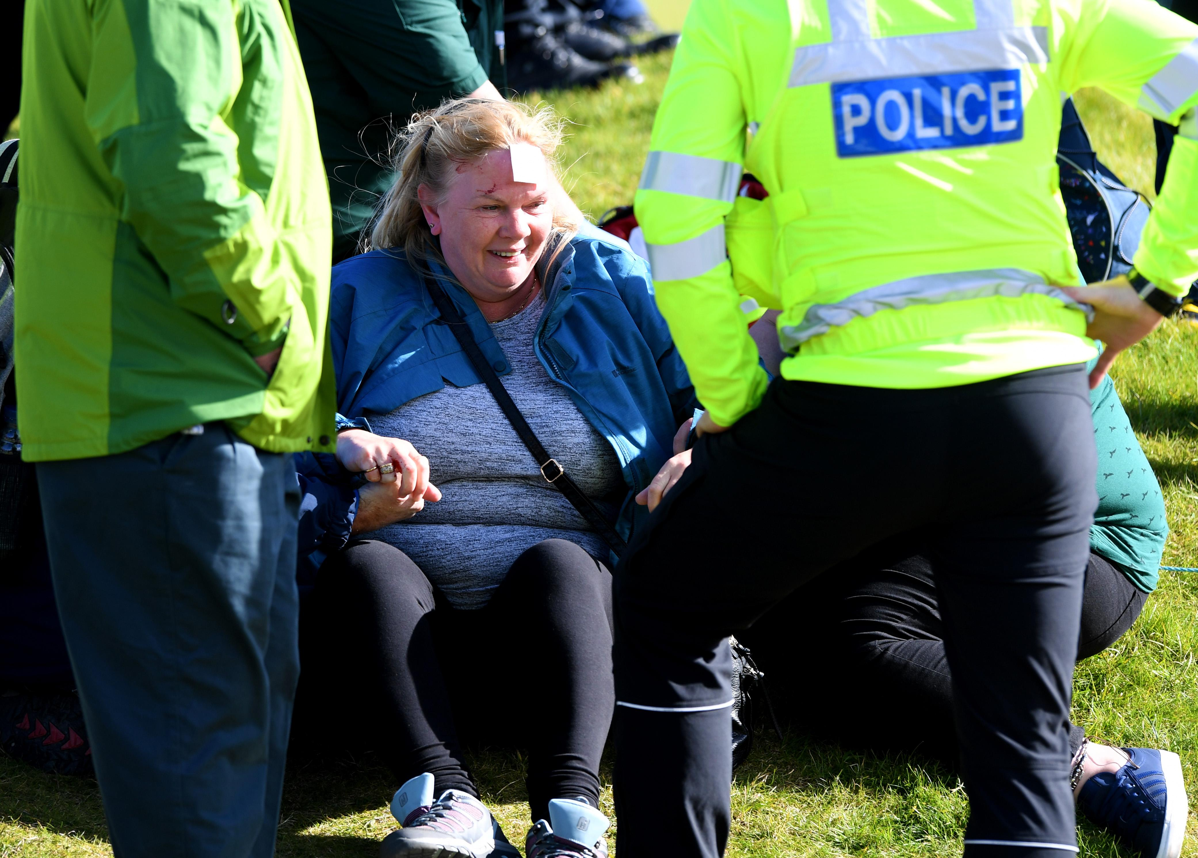 The woman required immediate medical attention at the Alfred Dunhill Links Championship