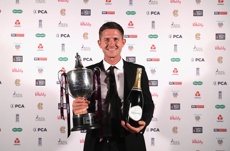 Joe Denlywon three county awards at theat the Professional Cricketers' Association dinner