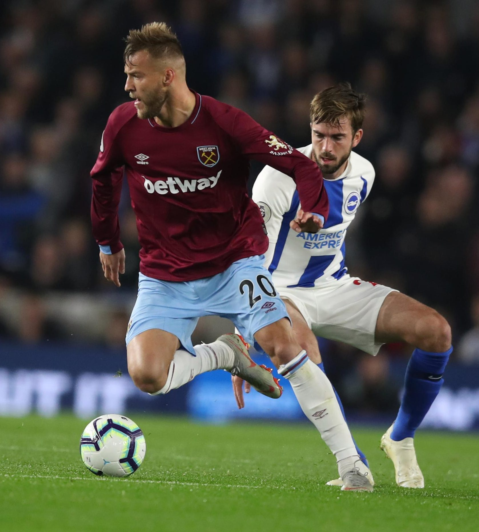 Yarmolenko was unable to help as West Ham fell to defeat at Brighton