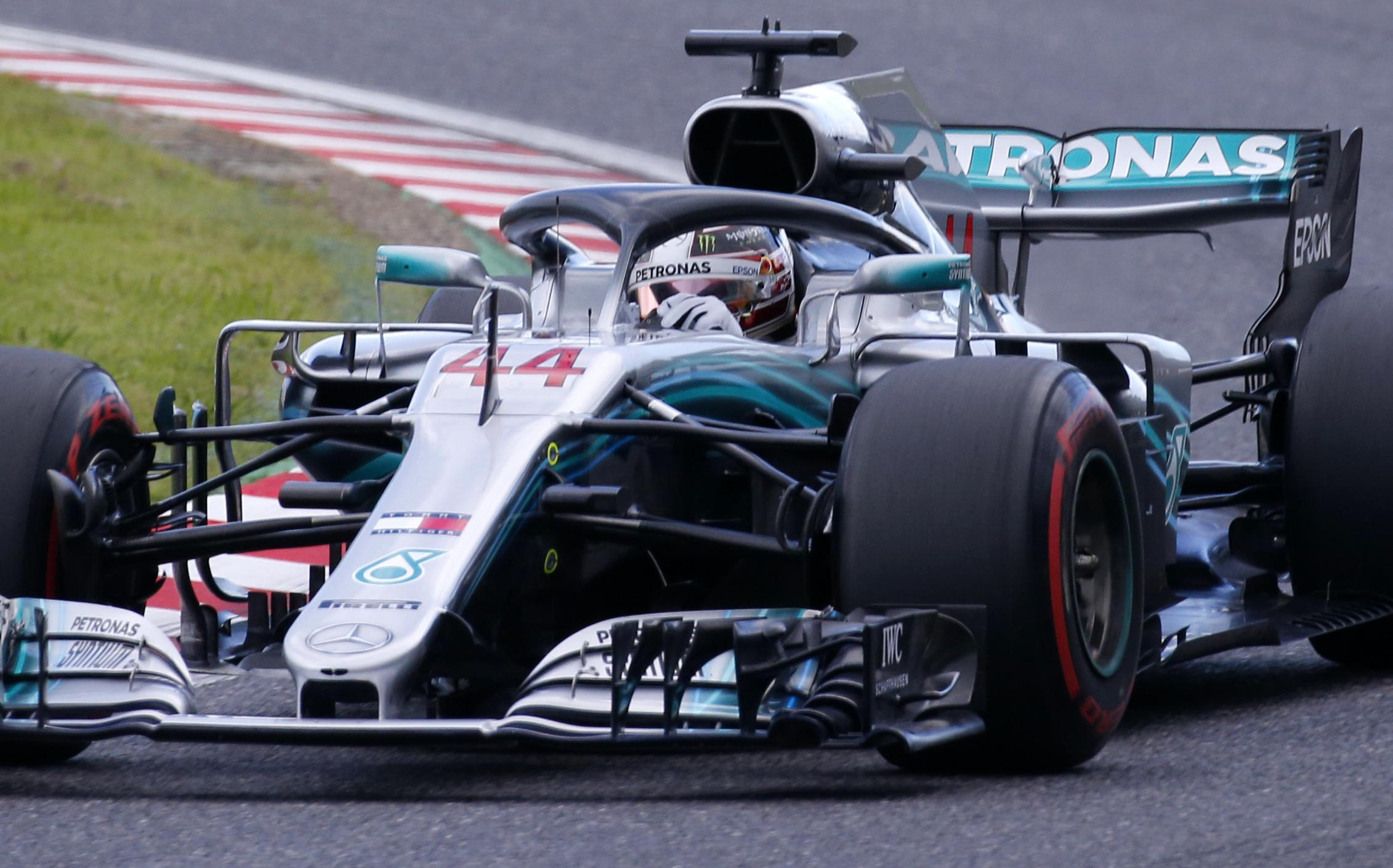 Pole position in Suzuka is Lewis Hamilton's 80th of his career