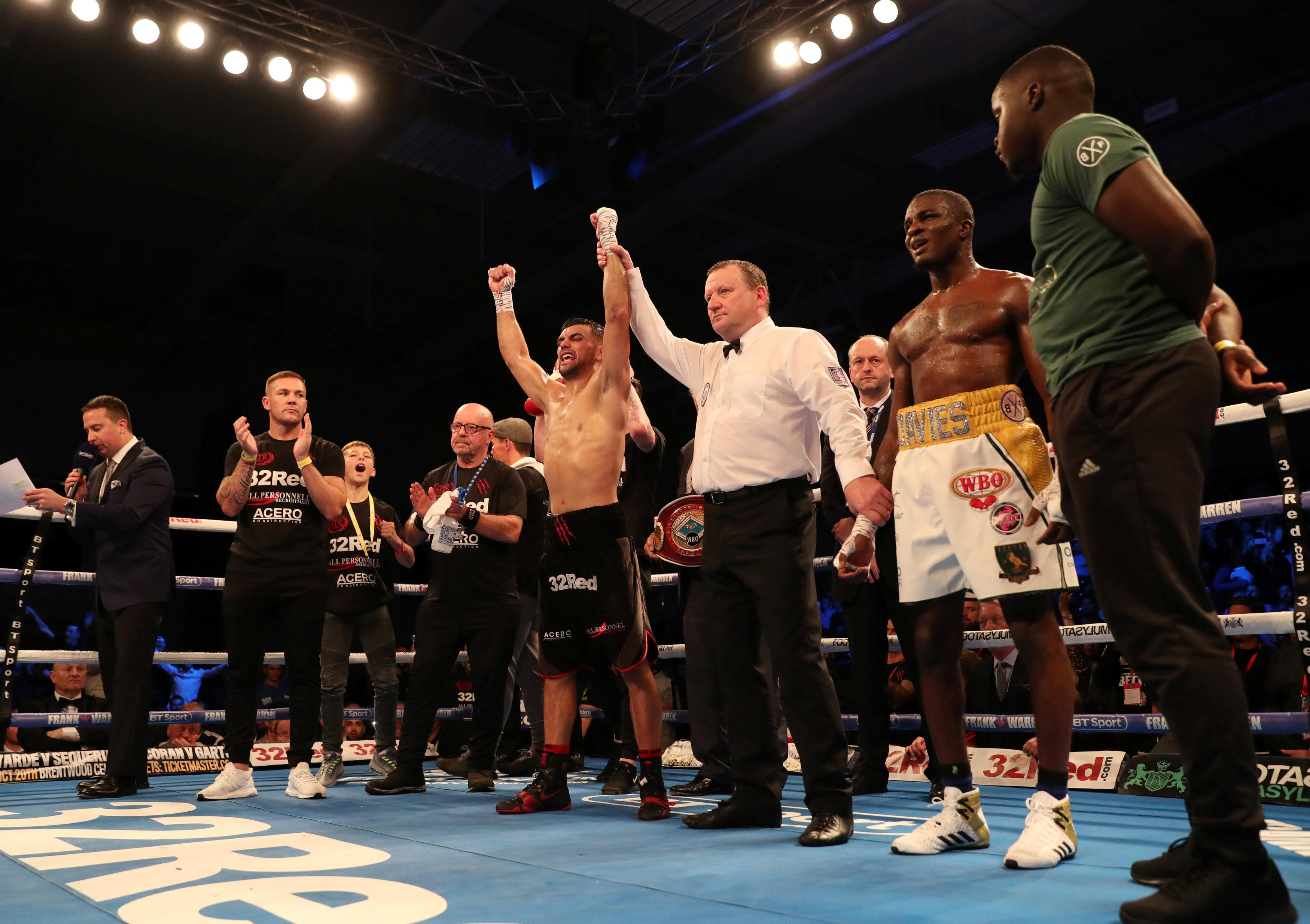 Ohara Davies was stunned by Jack Catterall in Leicester