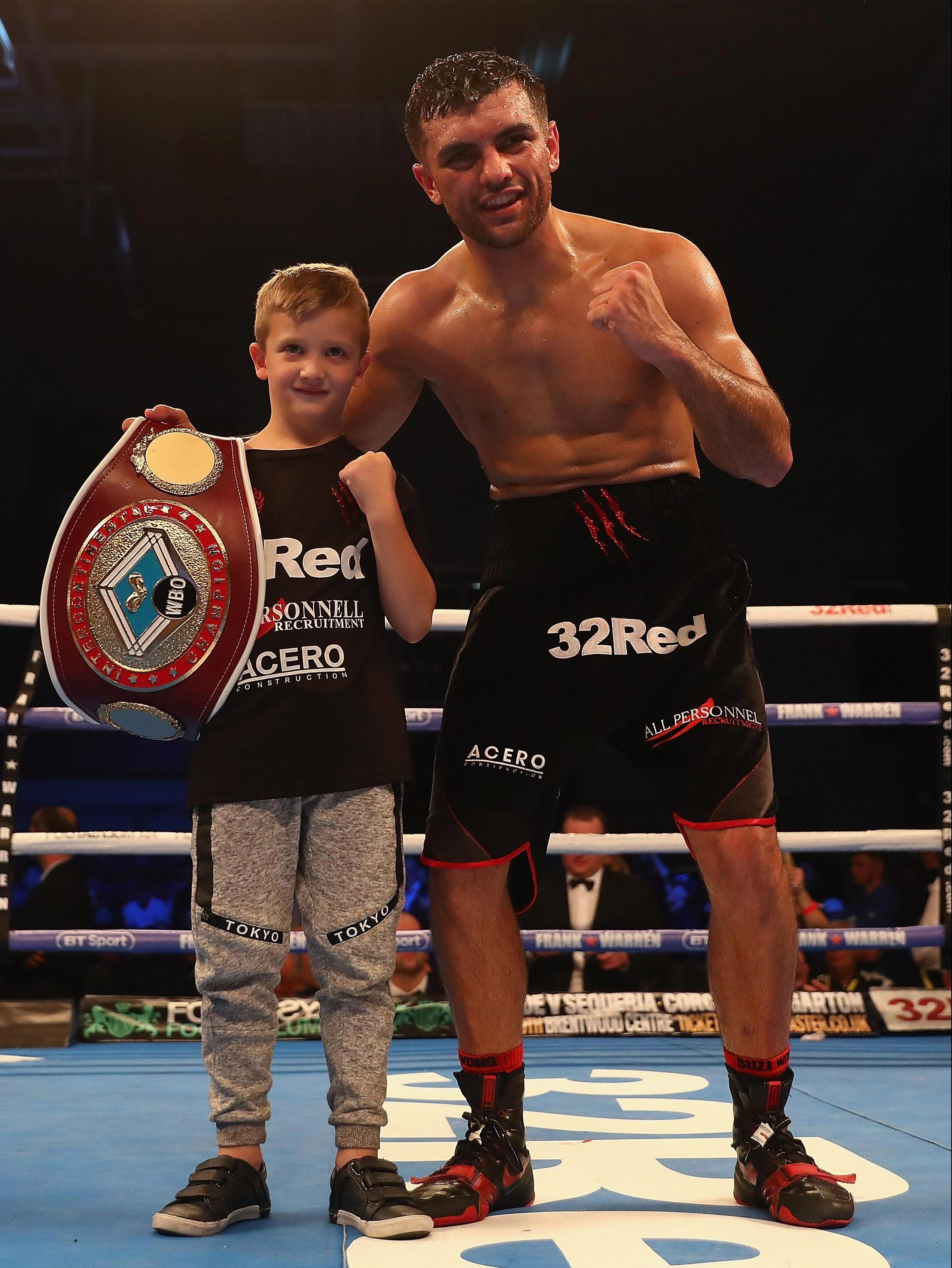 Jack Catterall celebrates his win over Ohara Davies