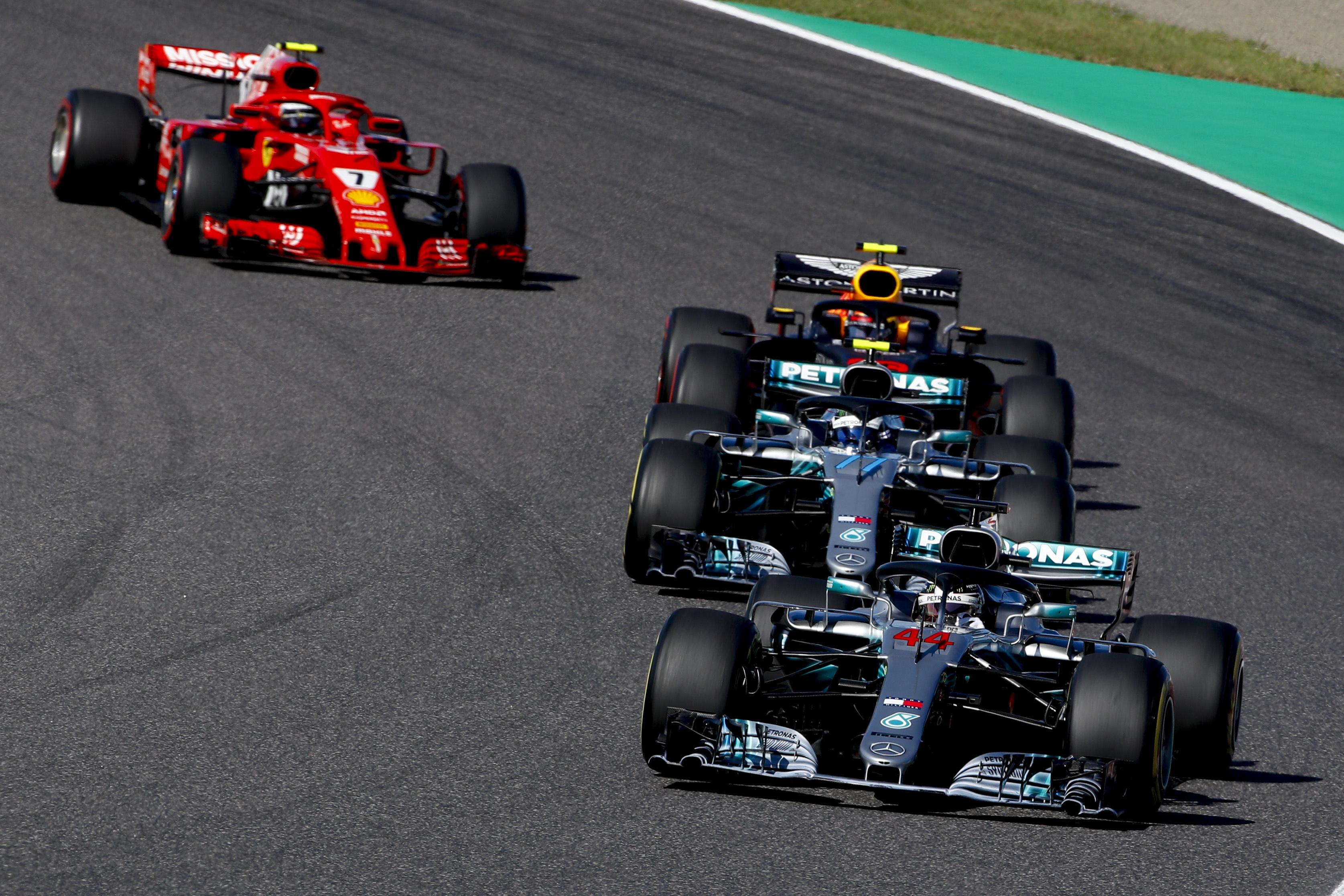 Hamilton was dominant throughout the race to make it four wins in the last five Japan GP