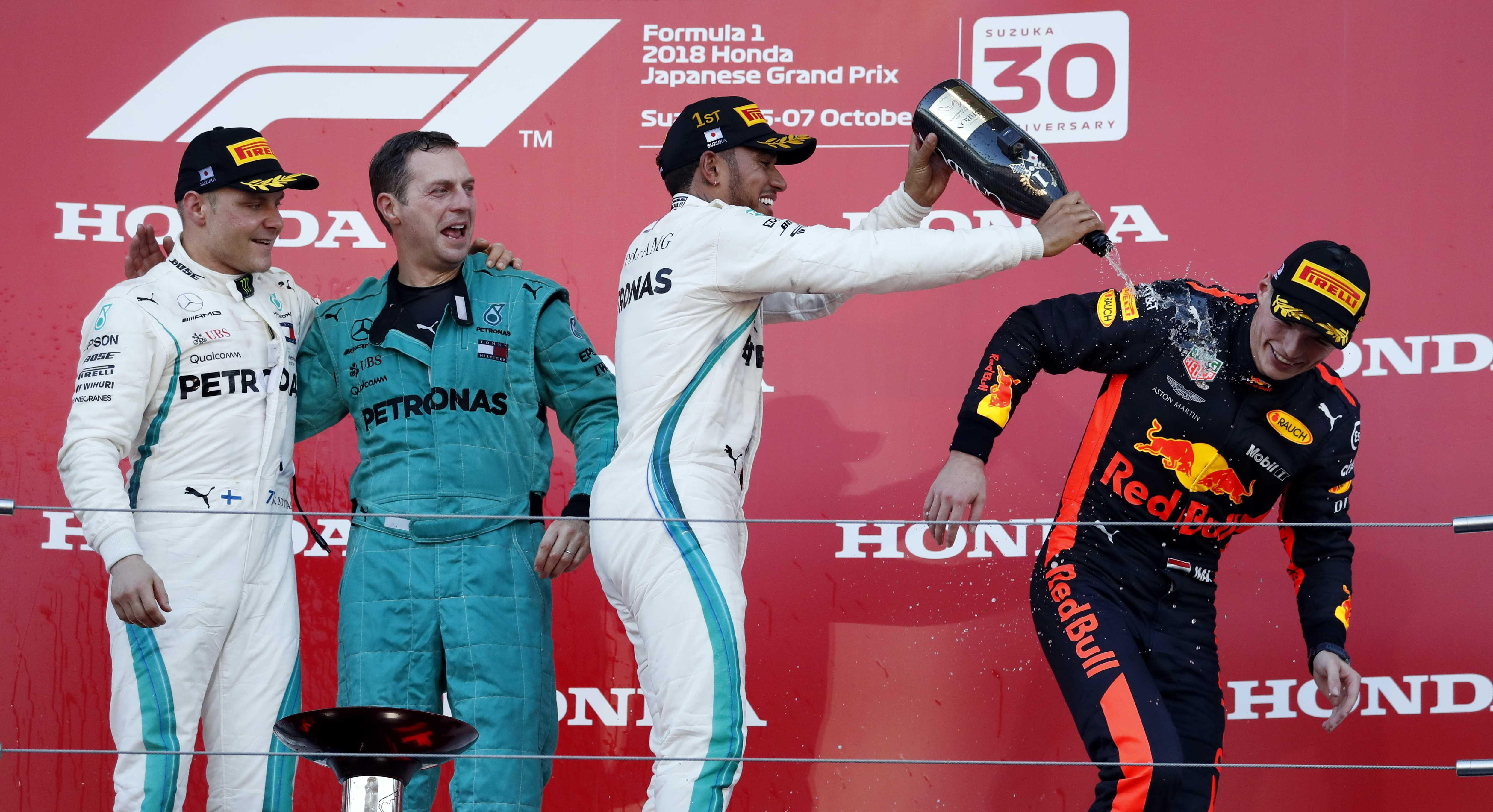 The perfect weekend for Mercedes means they move on to 538 points in the constructor standings with Ferrari second with 460