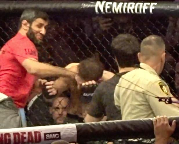 McGregor was caught off guard after Khabib jumped out of the octagon to target Dillon Danis