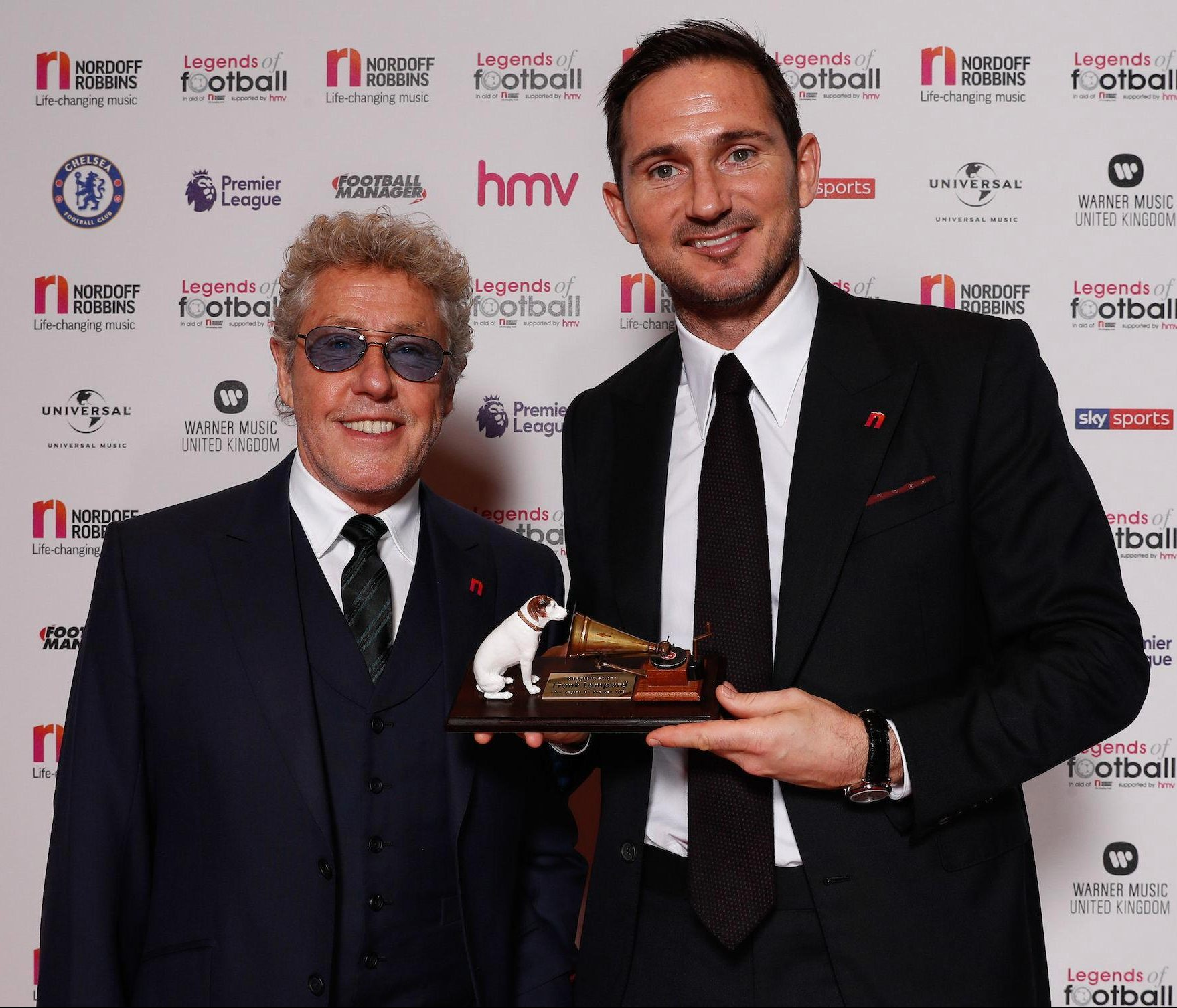 He was presented with the accolade by The Who front man Roger Daltrey