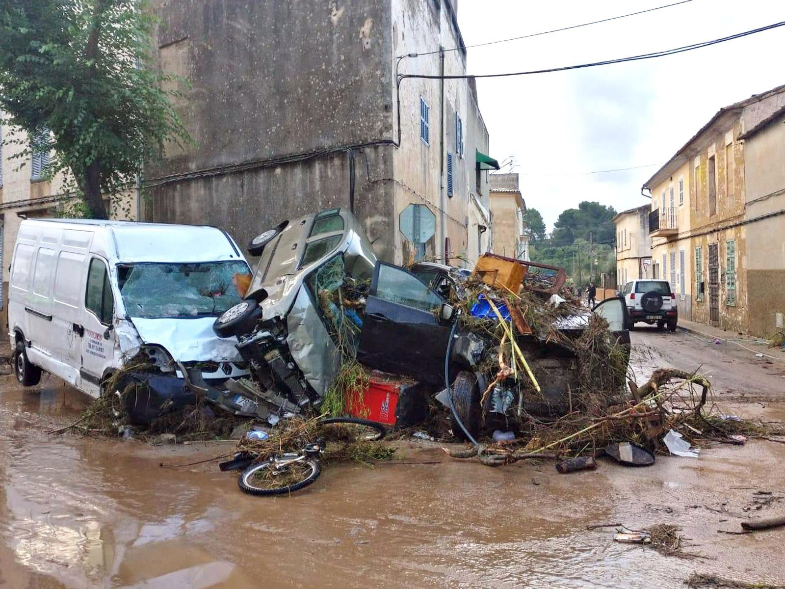 Torrential rain on Tuesday night claimed at least nine lives on the Spanish island