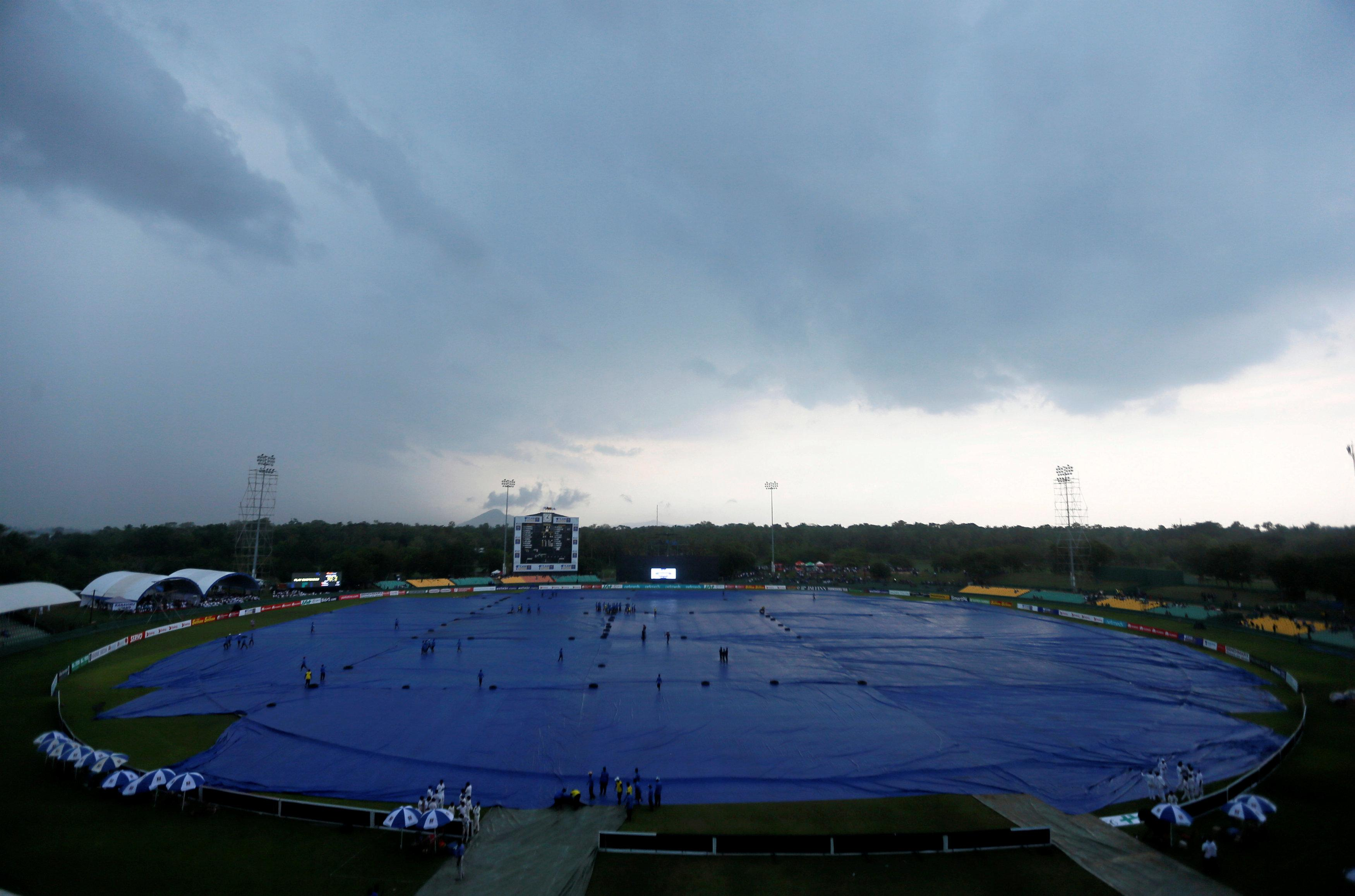 Poor weather meant the first ODI was abandoned after just 15 overs