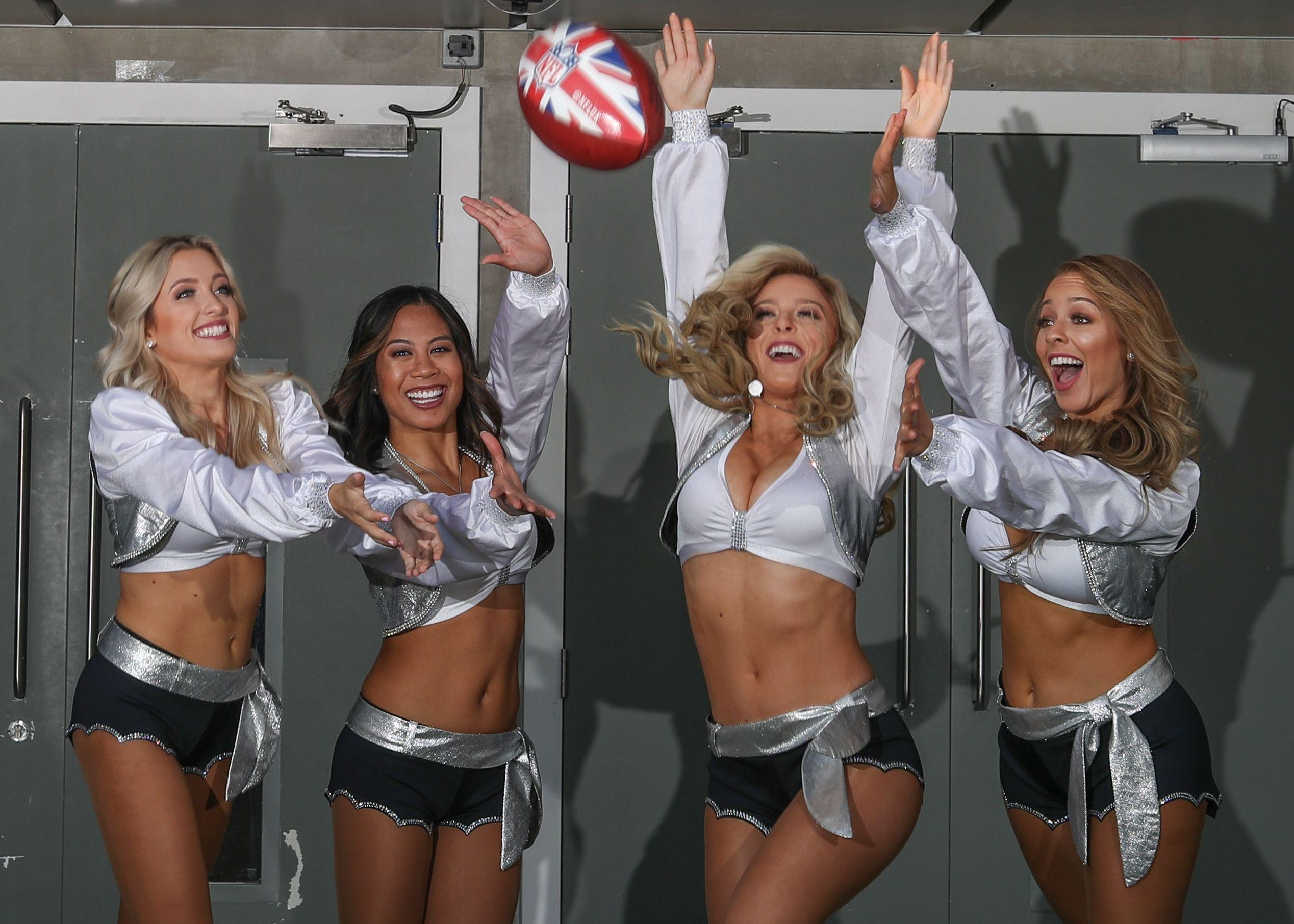 The Oakland Raiders cheerleaders have caught the London bug