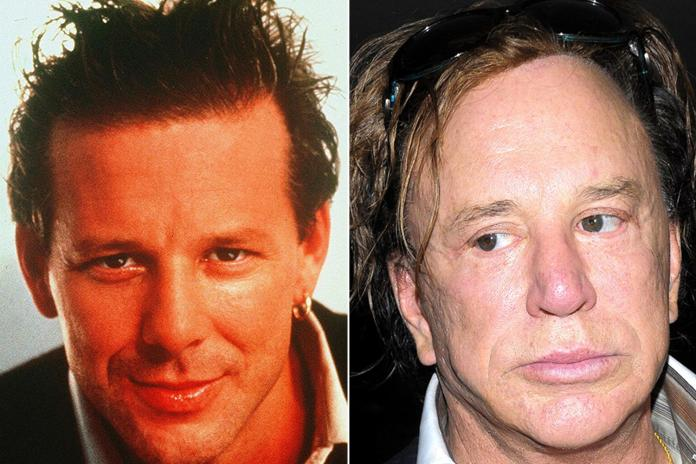 Mickey Rourke is almost unrecognisable today