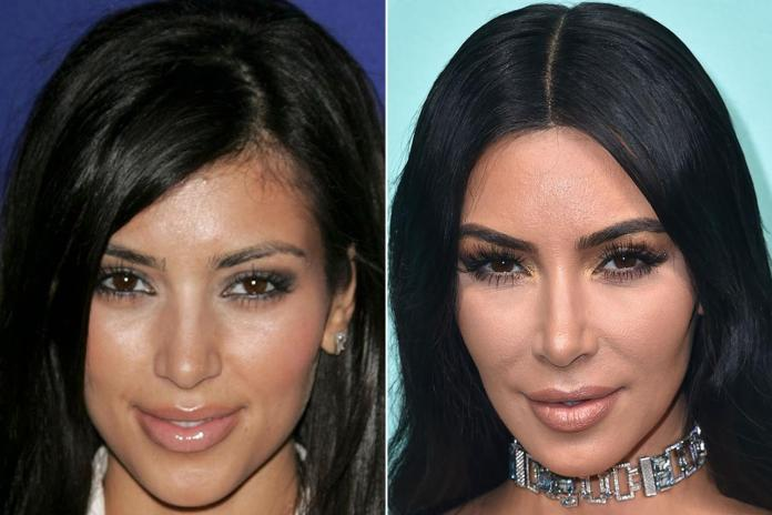Kim has changed her look a number of times as she's aged