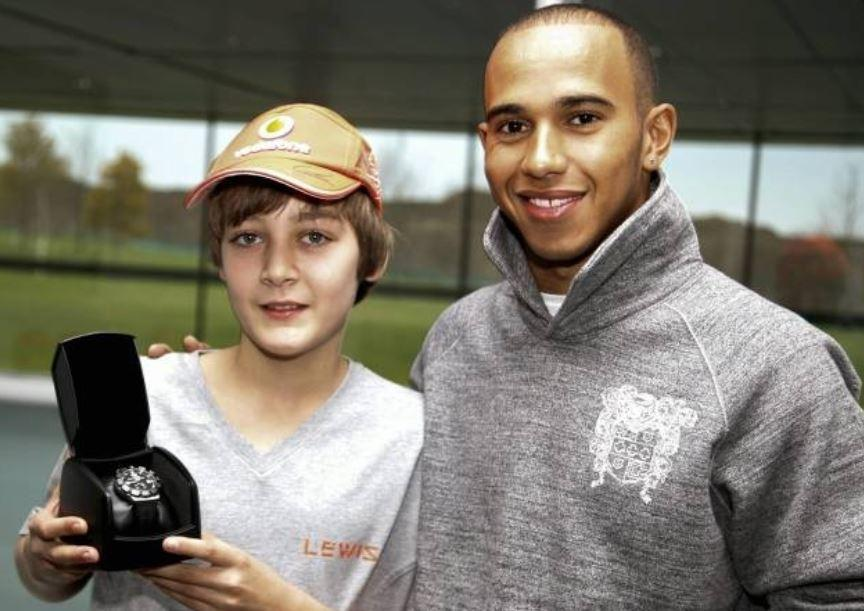 George Russell spent time with Lewis Hamilton learning the ropes of F1