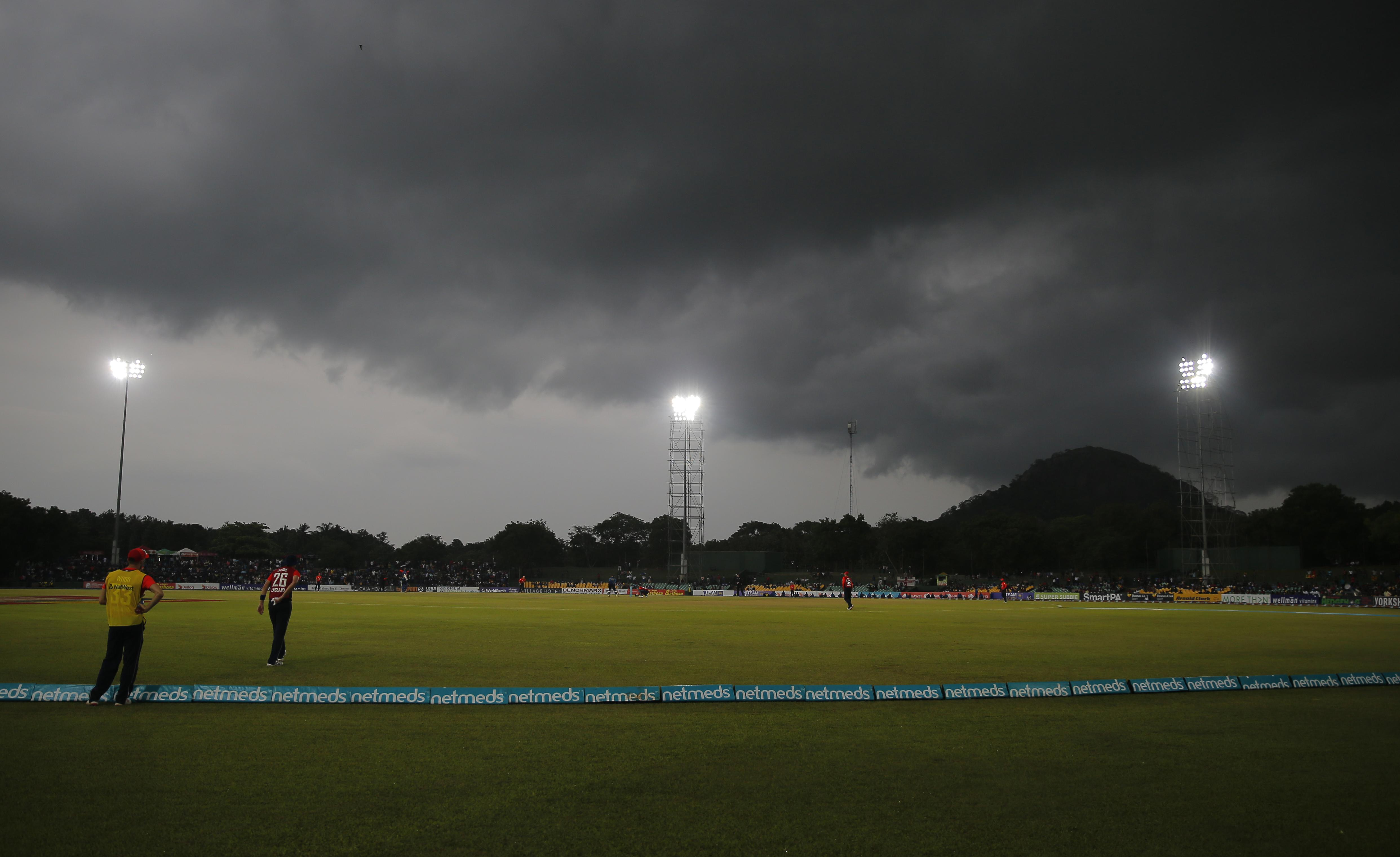 The match was brought to an early conclusion after it rained once again