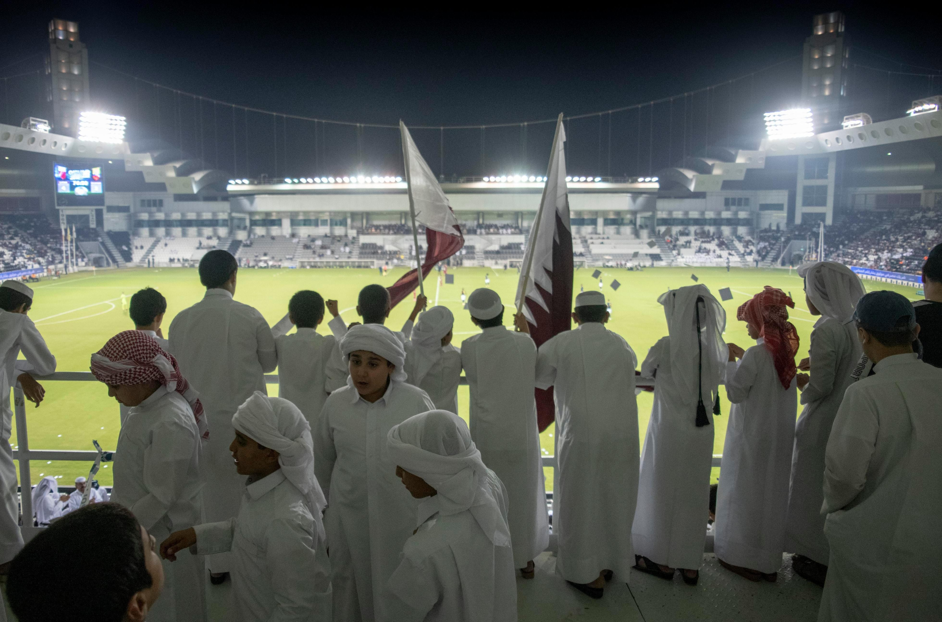 Qatar fans get a taste of what the World Cup will be like in the Middle East