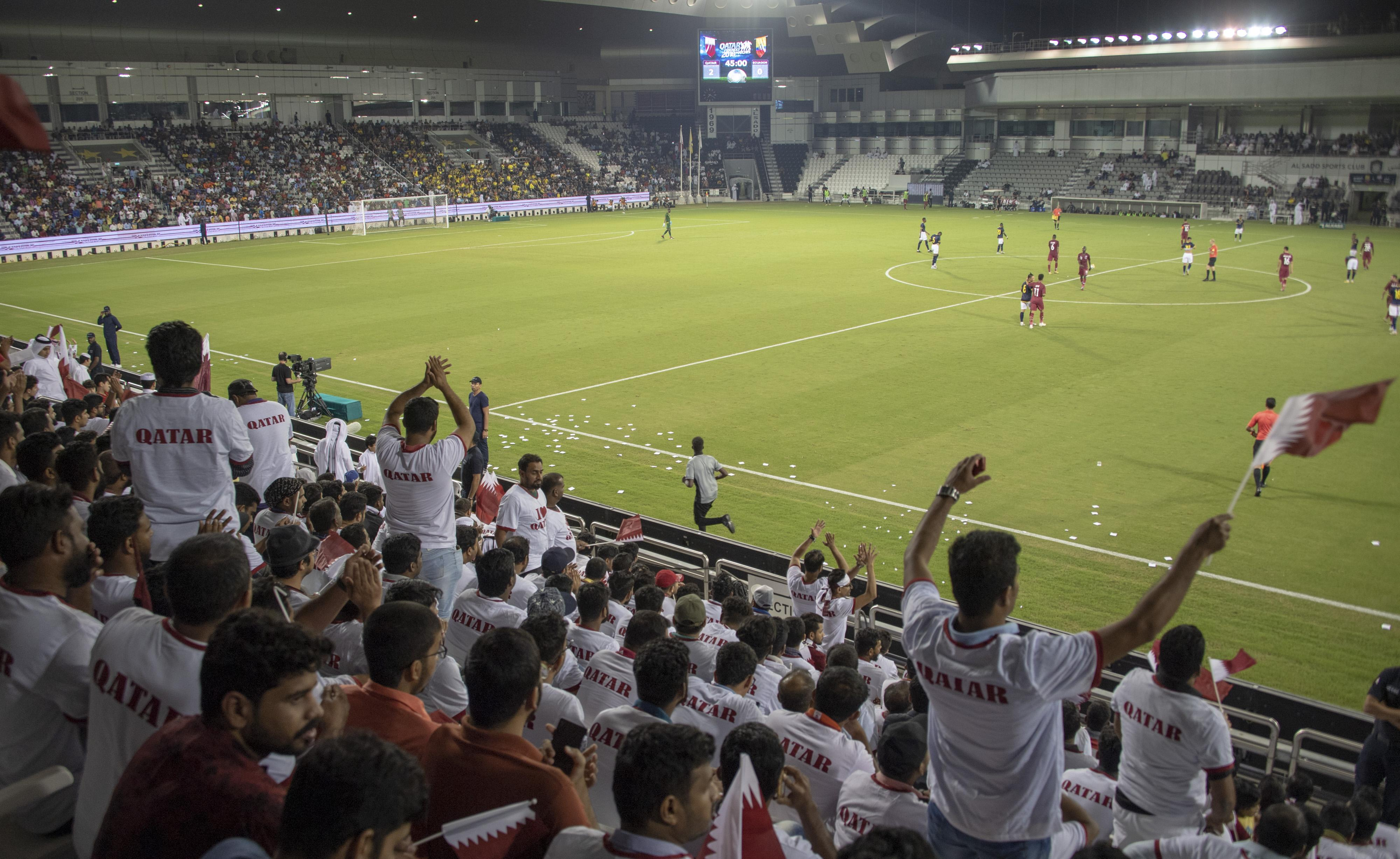 Fans faced stifling temperatures but Qatar authorities are promising new stadiums