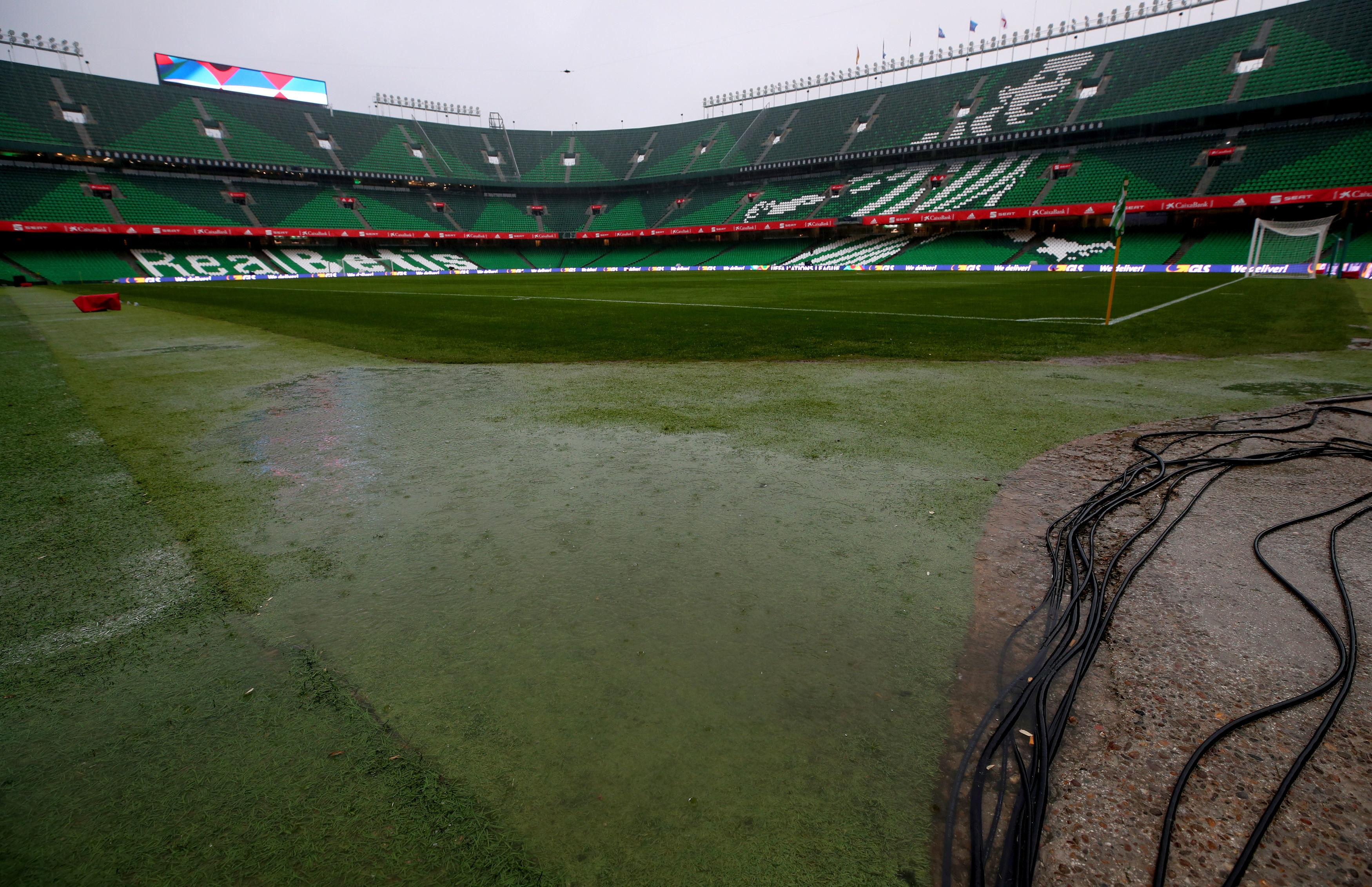 The areas around the playing surface are failing to withstand the torrential downpour