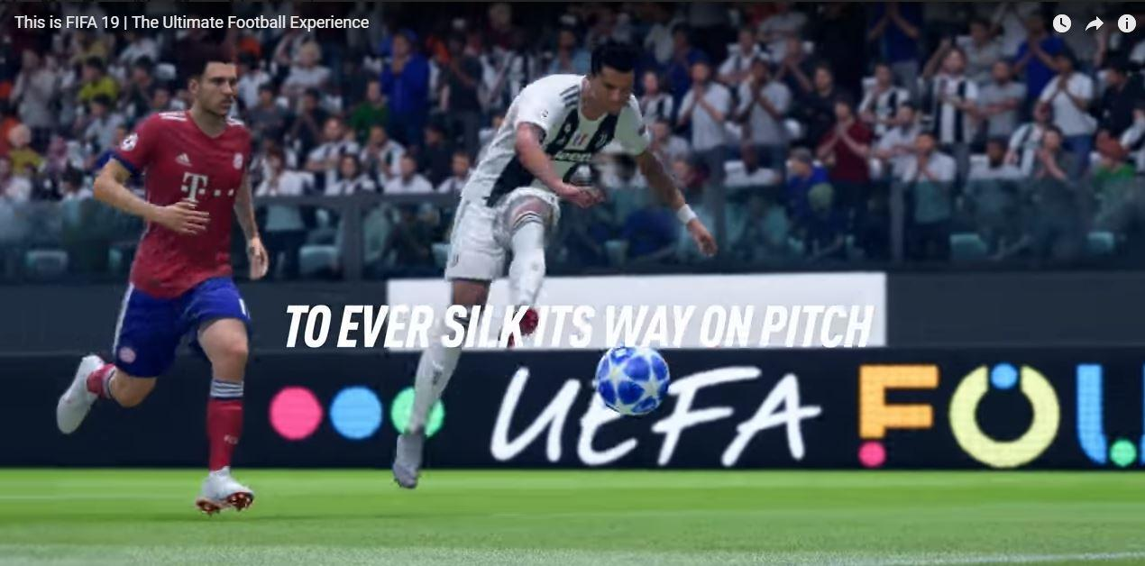 Cristiano Ronaldo features only briefly in a new promo video for Fifa 19