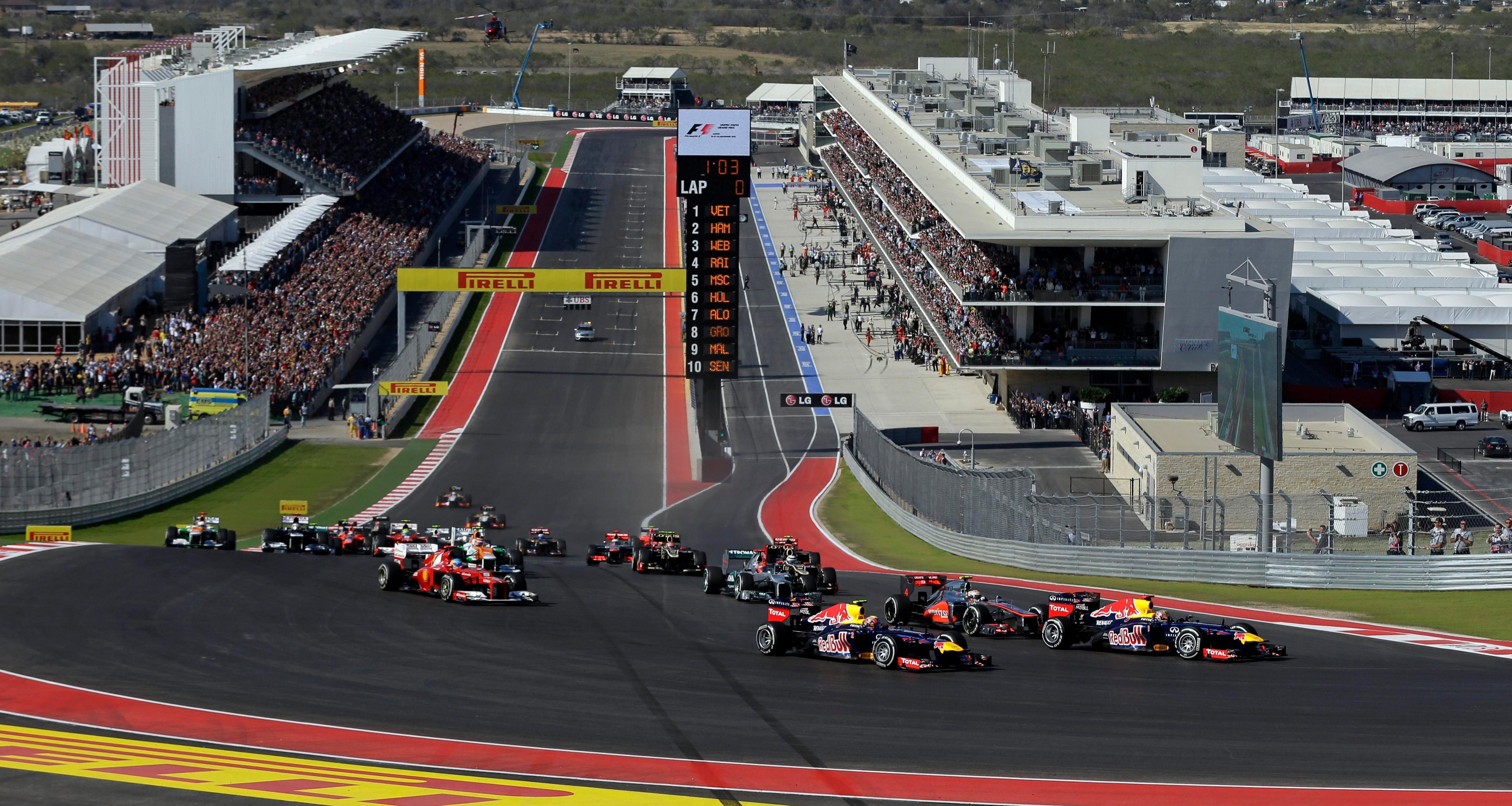 The action takes place over 56 laps of the Circuit of The Americas