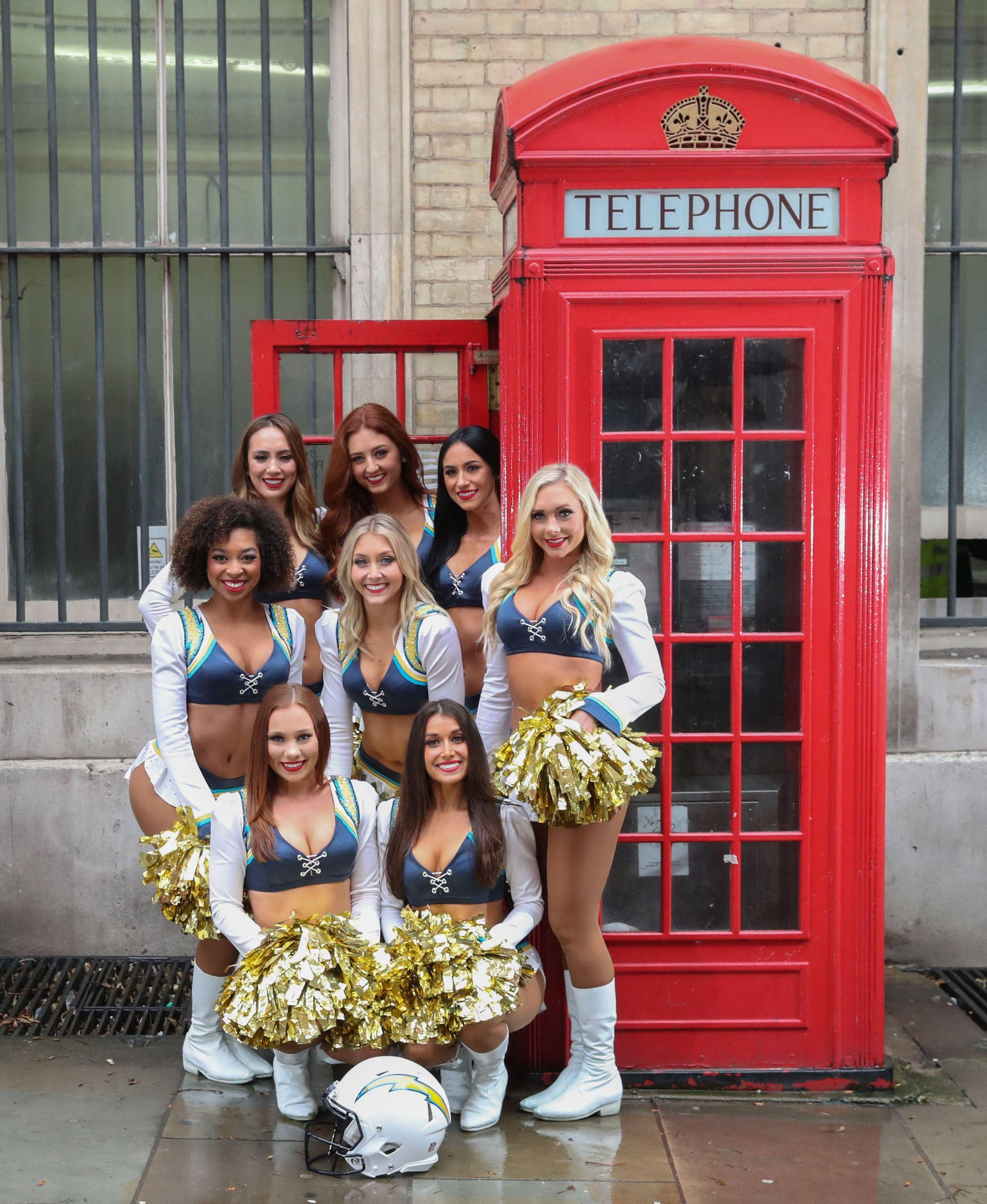 The Chargers' girls brought a little cheer to a grey, old London today