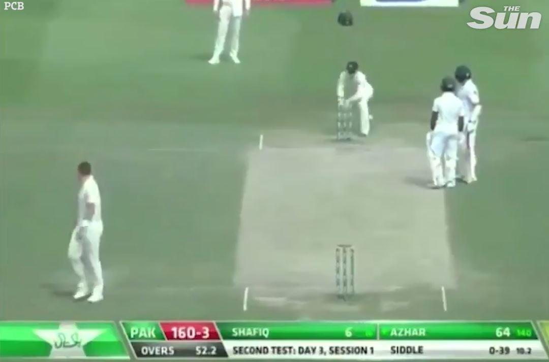 The Pakistan batsmen were left stranded, chatting in the middle of the pitch