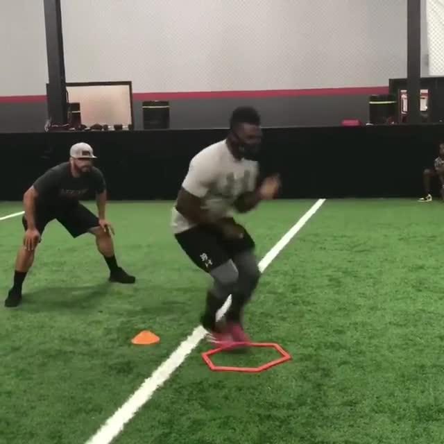 Wade shared a video of himself working on his speed on his Instagram account