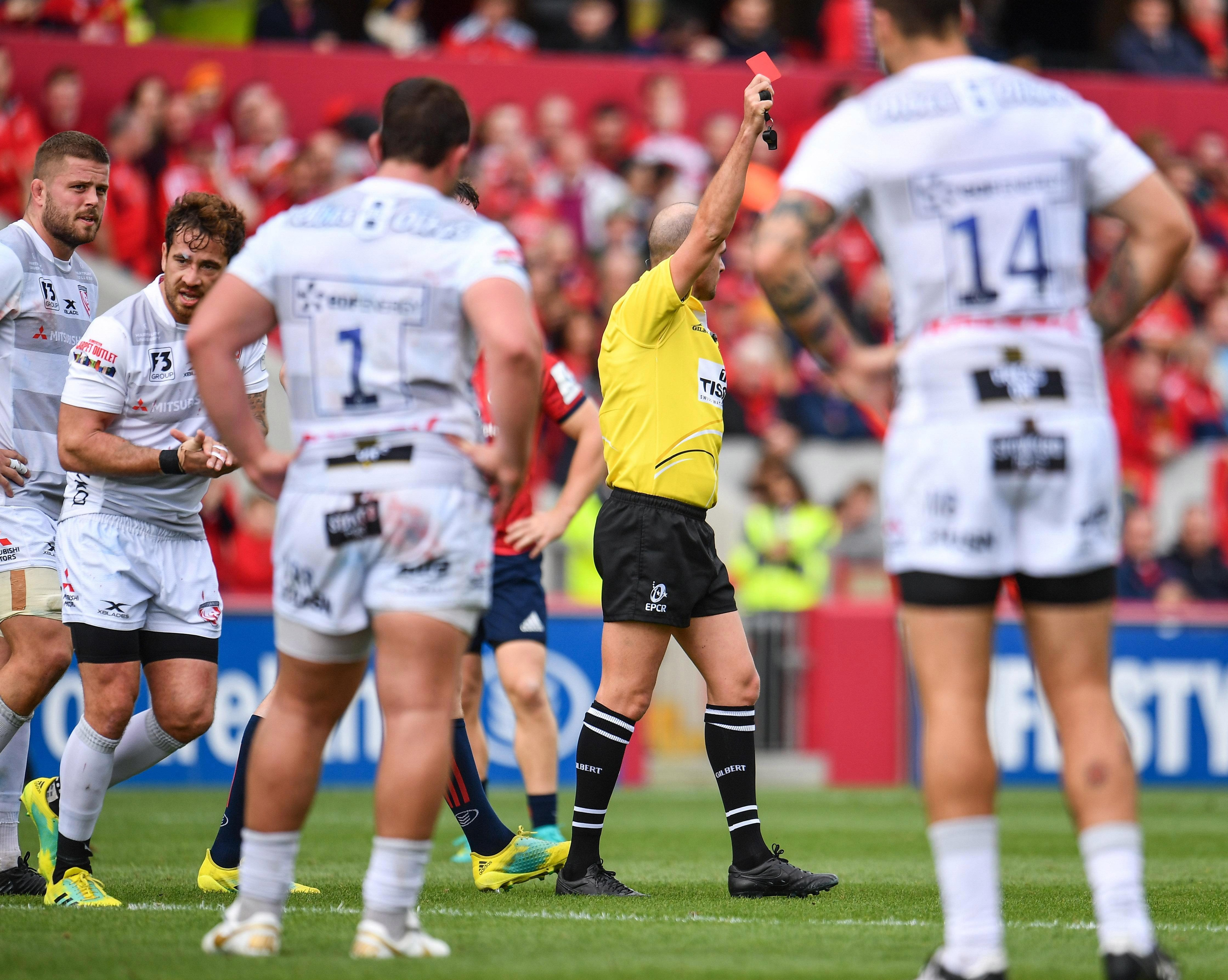 Referee Alexandre Ruiz had no choice but to send Cipriani off under new guidelines from World Rugby