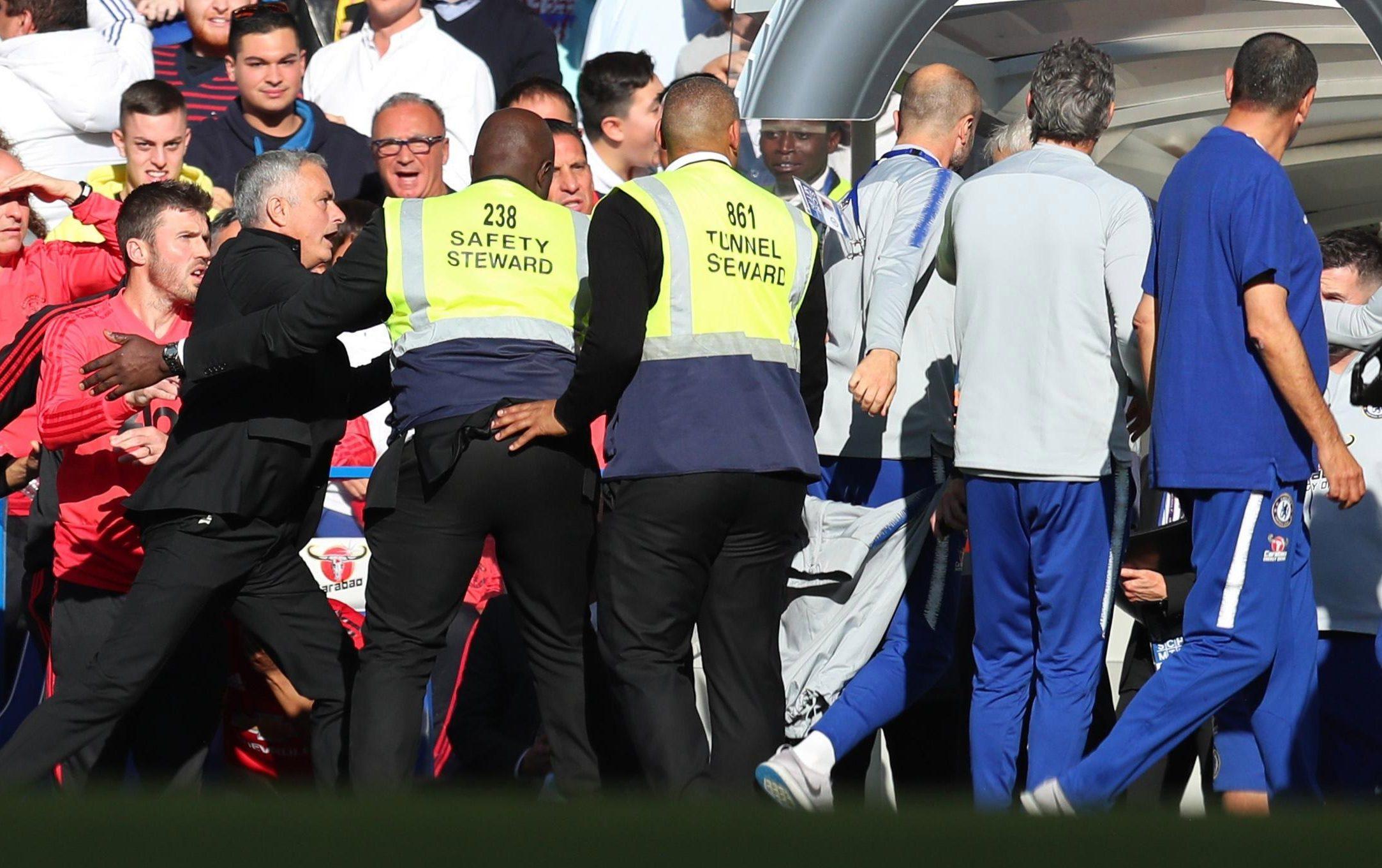 Chelsea coach Marco Ianni sparked a row with Jose Mourinho with a celebratory jibe