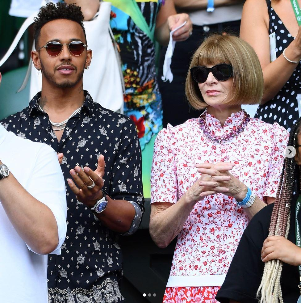 He rubbed shoulders with Vogue editor Anna Wintour at Wimbledon