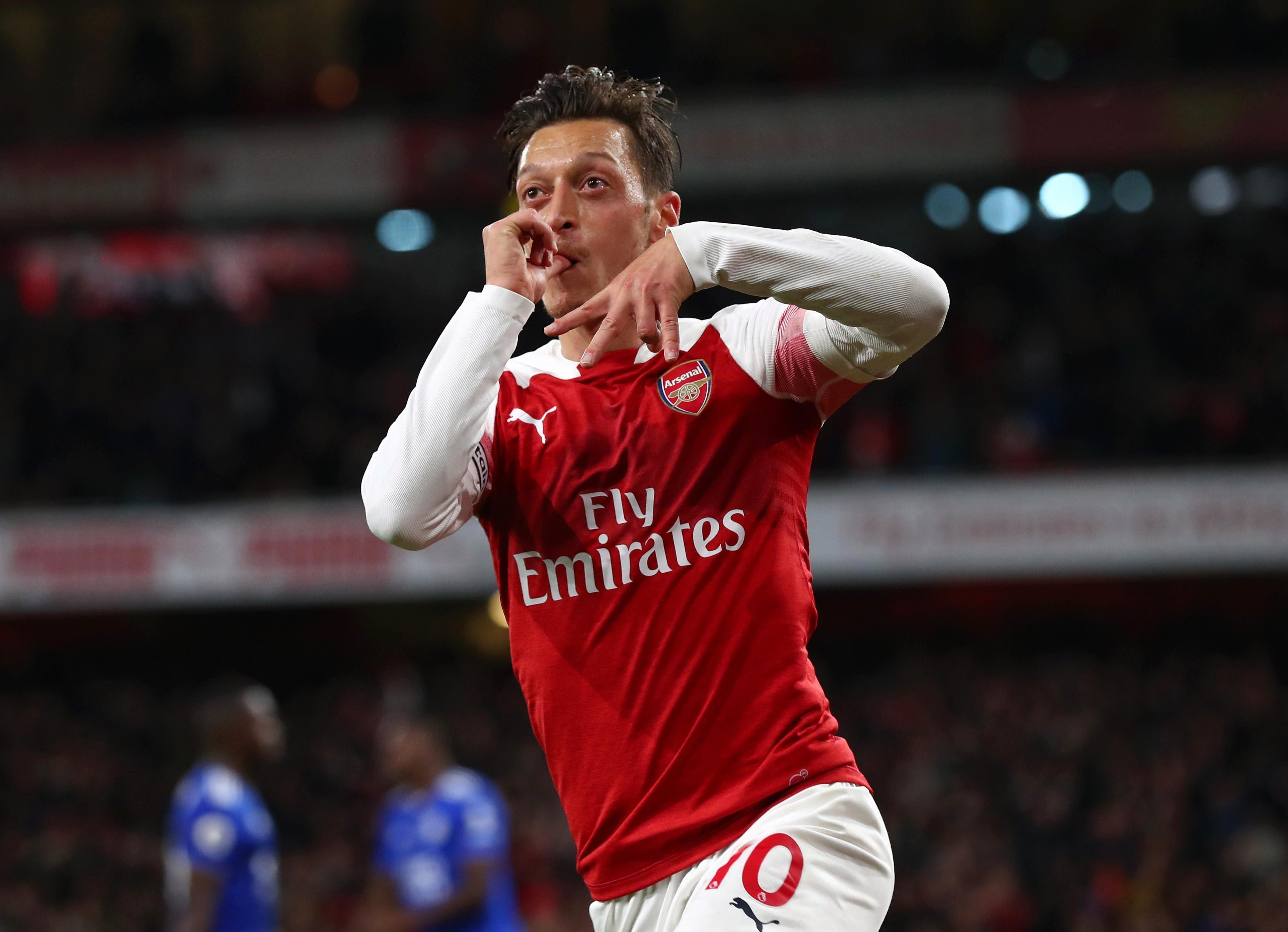 Ozil inspired the Arsenal comeback late in the first half