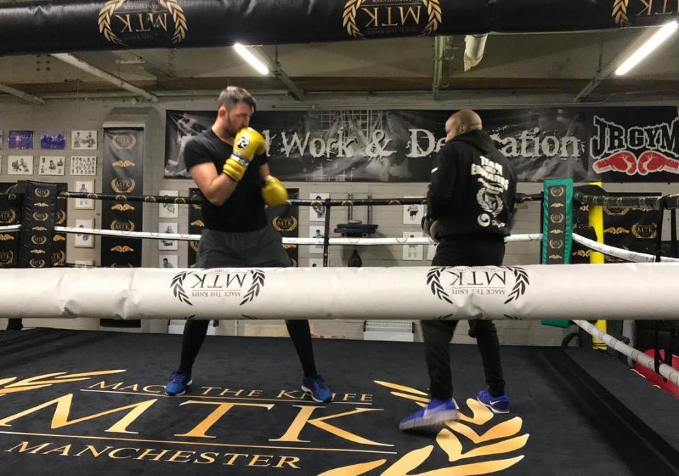Skilled fighter Hughie Fury has been sparring hard in Bolton